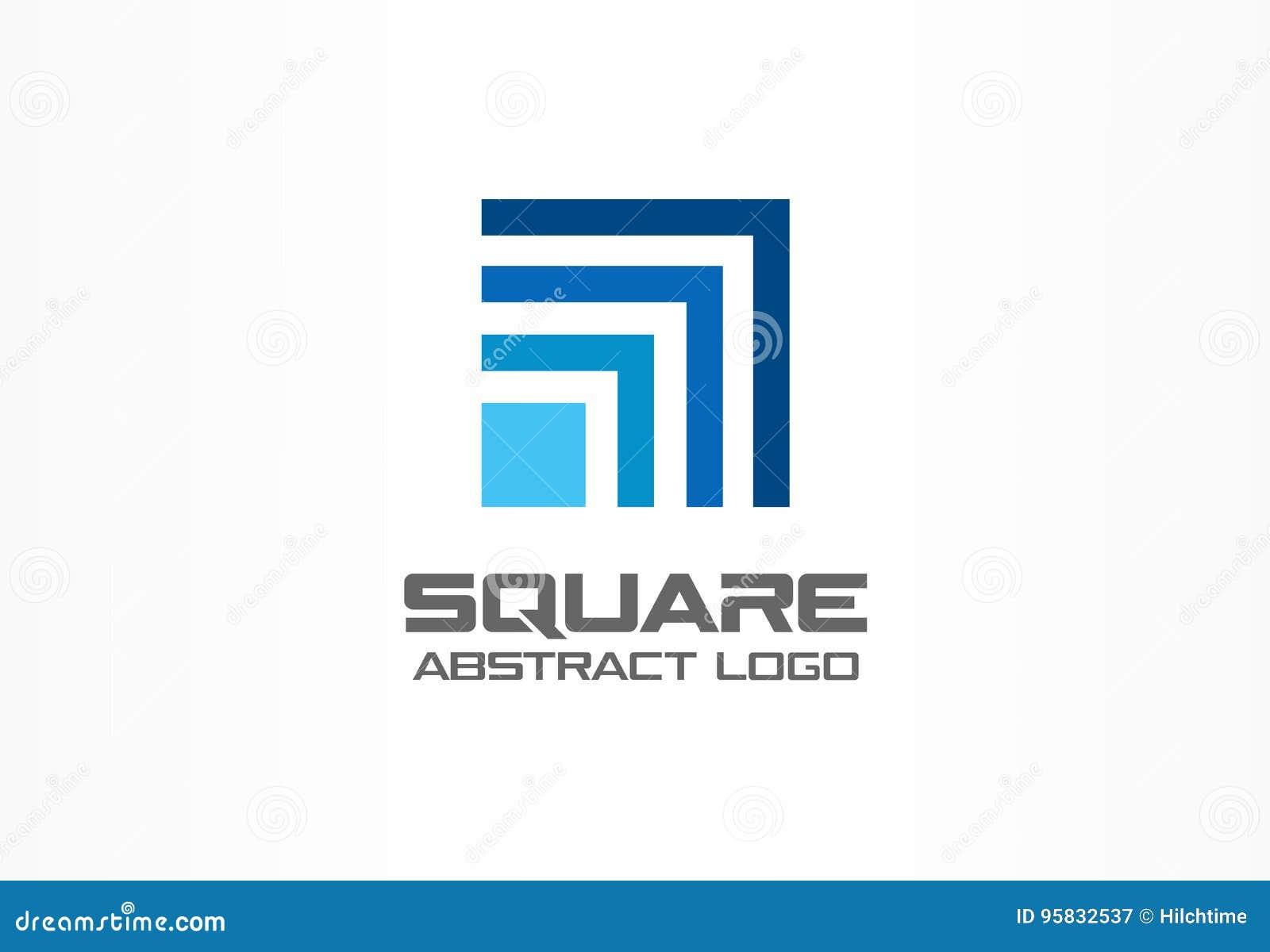 Αφηρημένο λογότυπο για την επιχειρησιακή επιχείρηση Εταιρικό στοιχείο σχεδίου ταυτότητας Τετράγωνο τεχνολογίας, δίκτυο, αύξηση κα