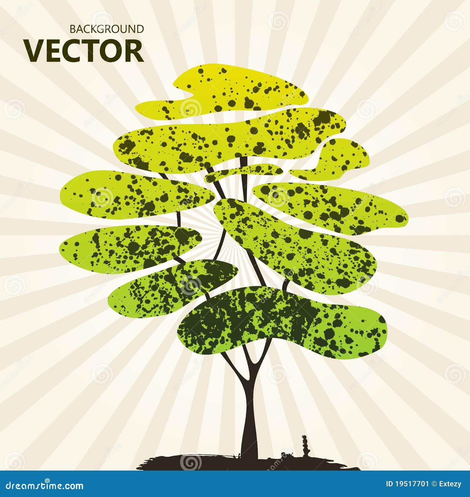 αφηρημένο πράσινο δέντρο χρώμ