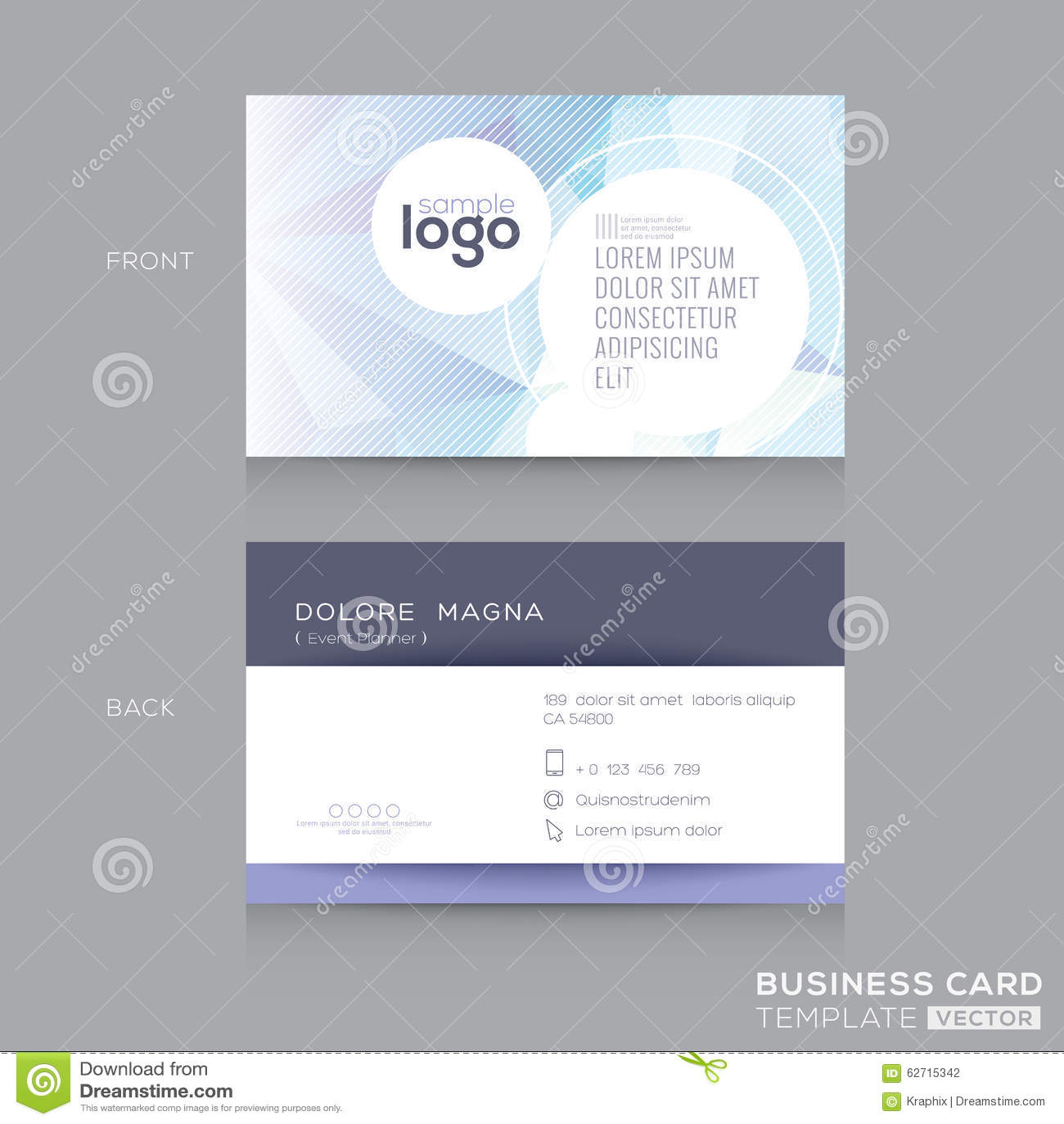 Αφηρημένο πρότυπο σχεδίου επαγγελματικών καρτών
