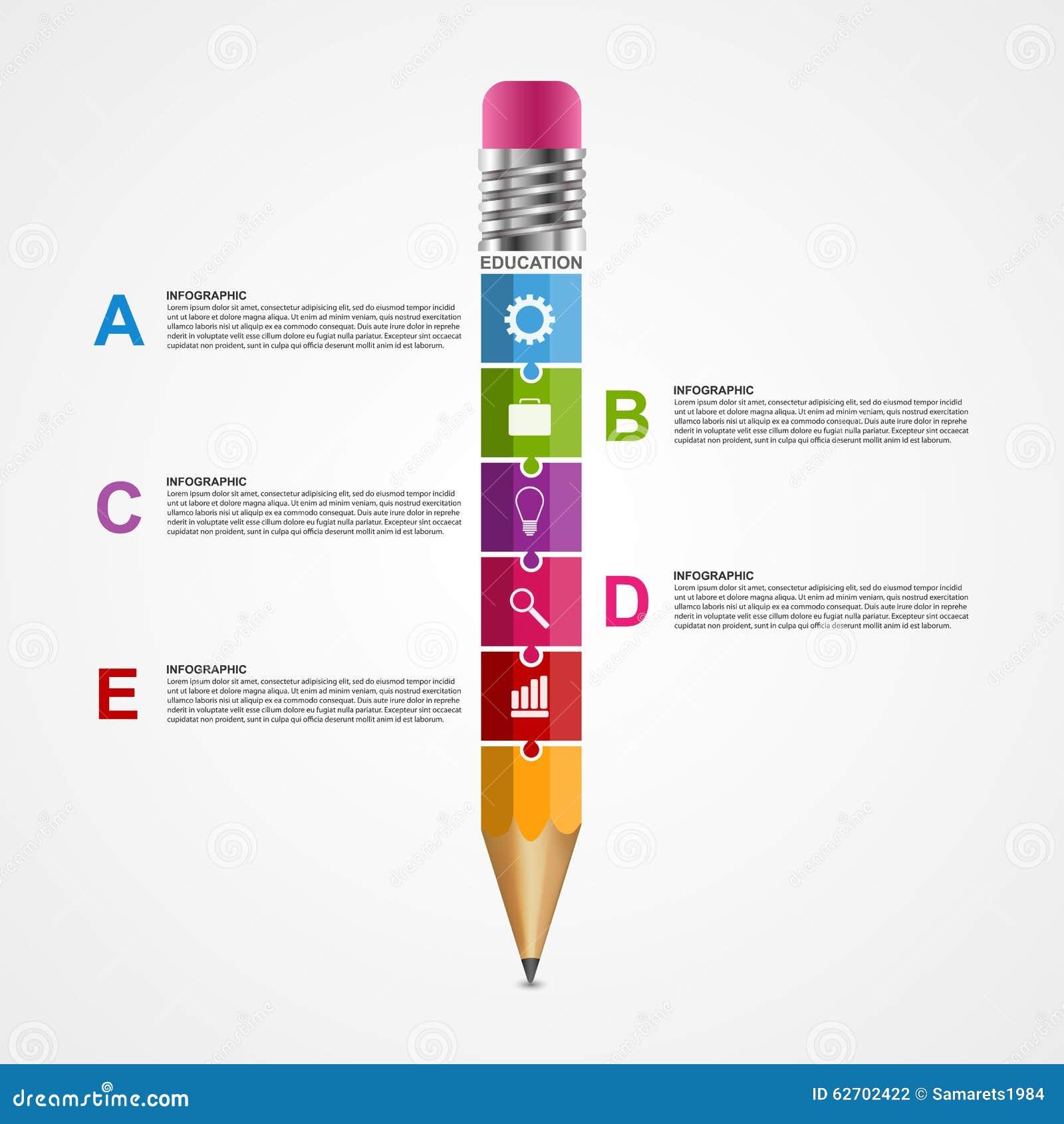 Αφηρημένο πρότυπο σχεδίου infographics επιλογών