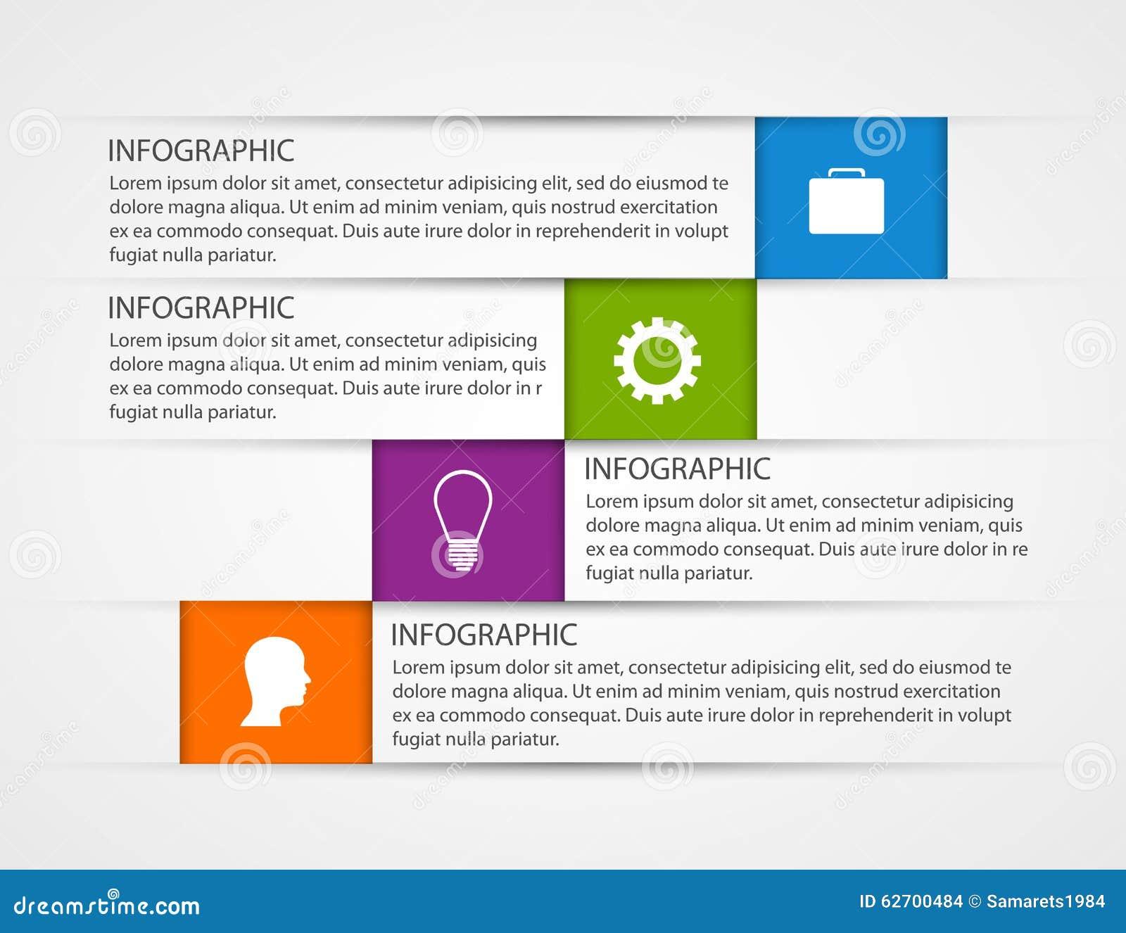 Αφηρημένο πρότυπο infographics επιχειρησιακών επιλογών