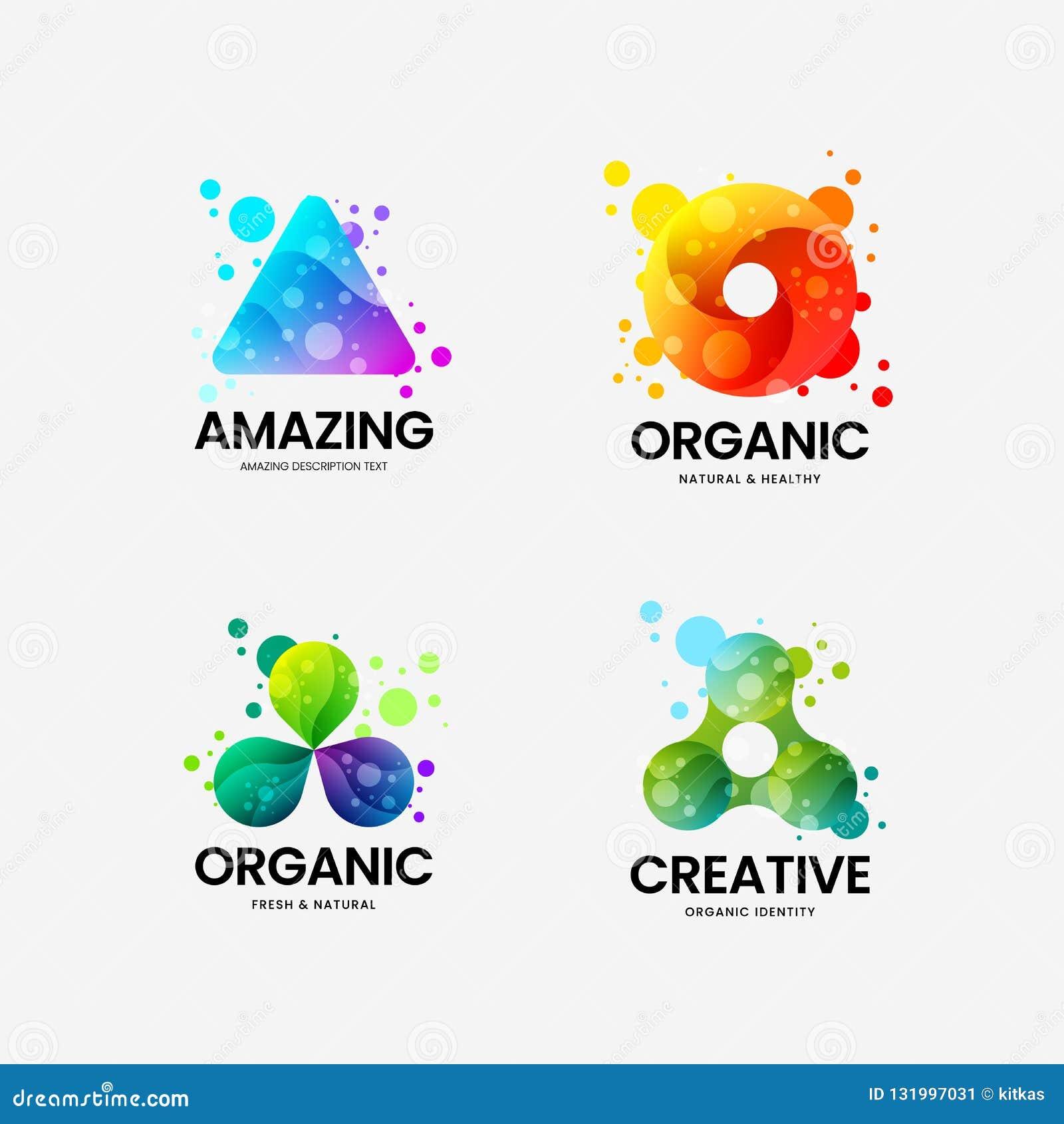 Αφηρημένο σημάδι λογότυπων ταυτότητας τριγώνων οργανικό διανυσματικό εταιρικό Σύνολο απεικόνισης εμβλημάτων Logotype Του δέλτα ορ