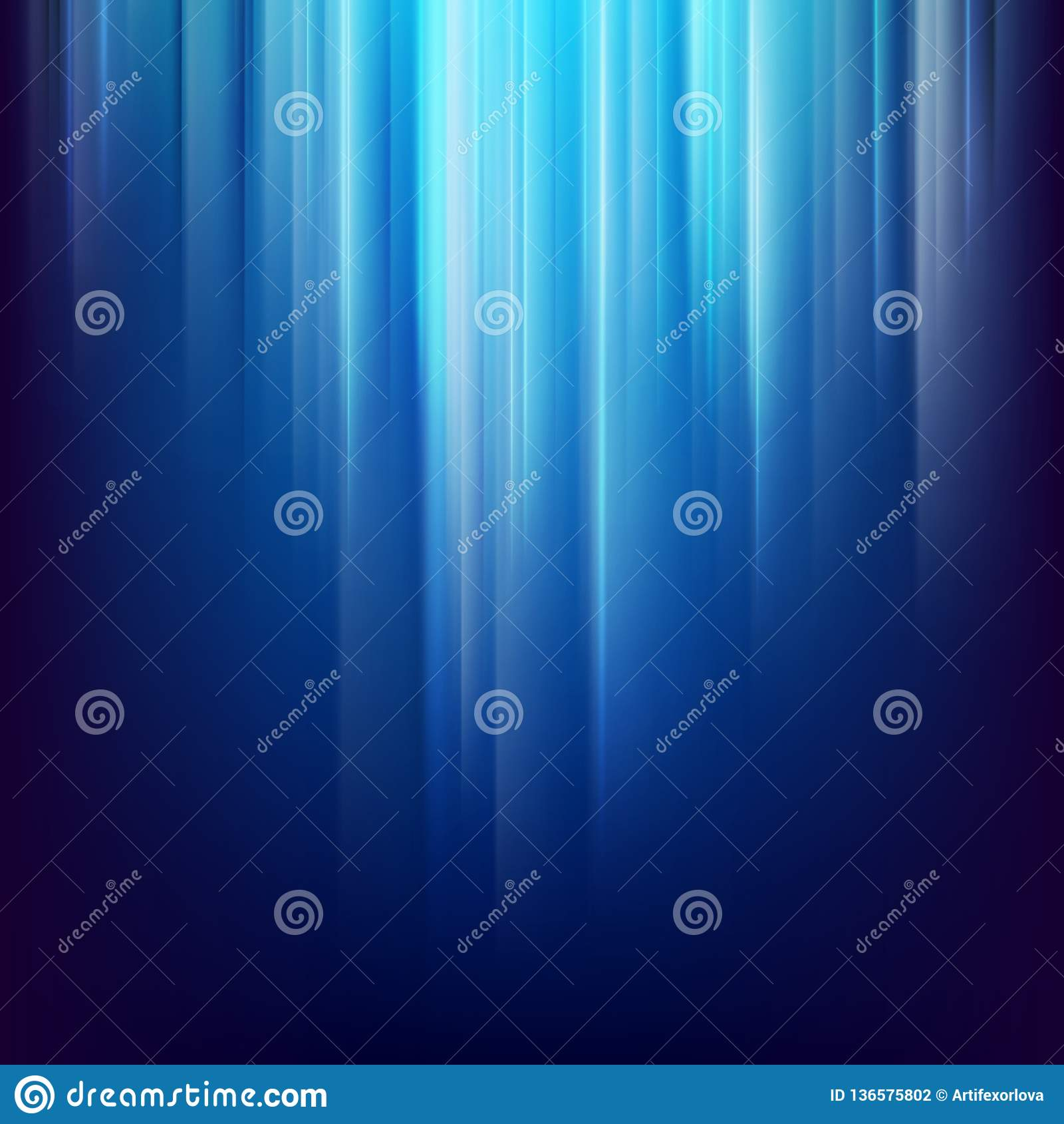 Αφηρημένο σκοτεινό διαστημικό υπόβαθρο με τις καμμένος μπλε ελαφριές γραμμές 10 eps