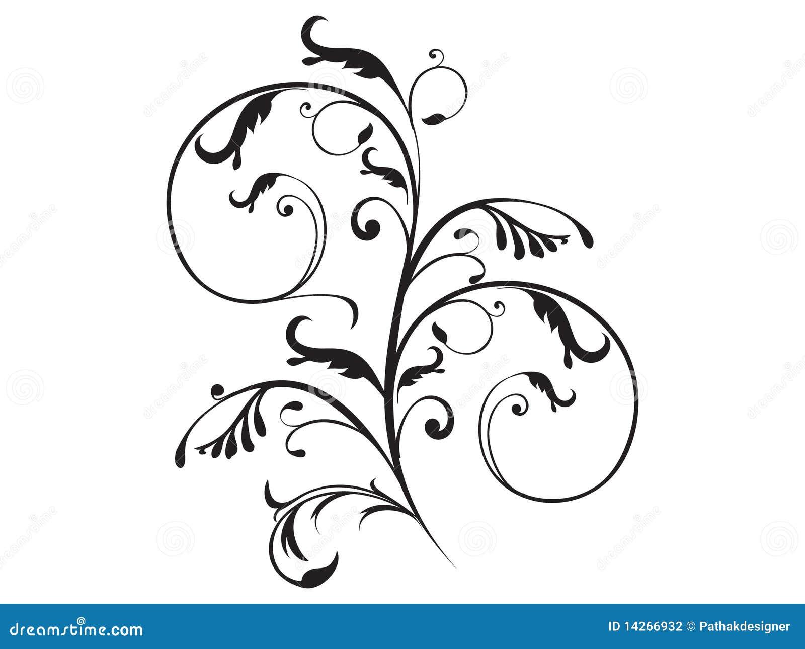 αφηρημένο στοιχείο floral