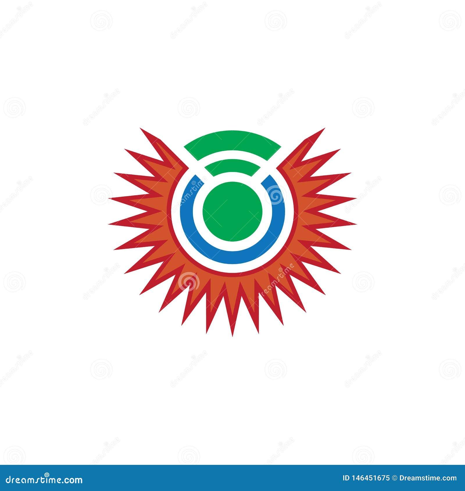 Αφηρημένο σχέδιο λογότυπων δικτύων ήλιων