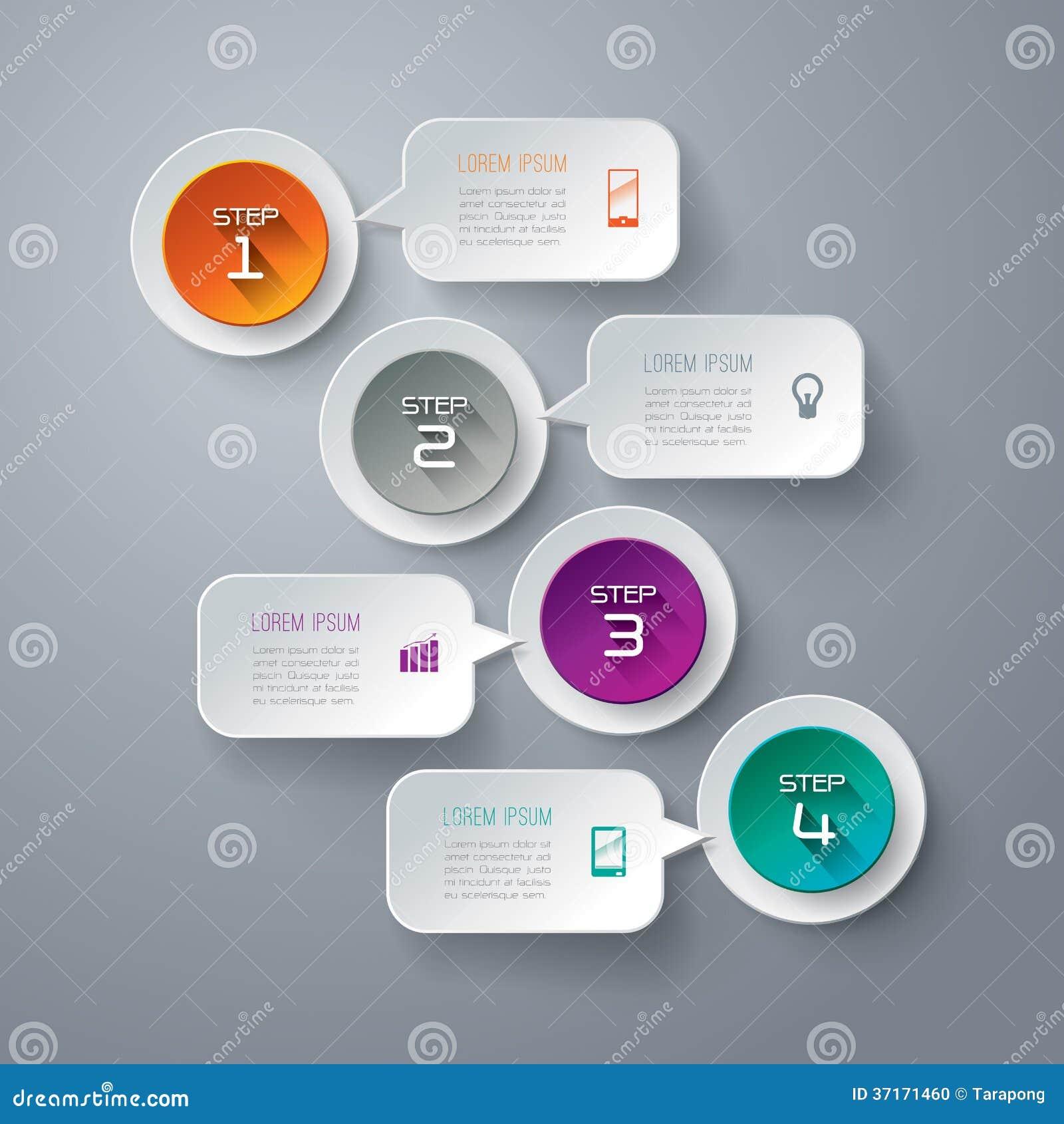 Αφηρημένο σχέδιο προτύπων infographics.