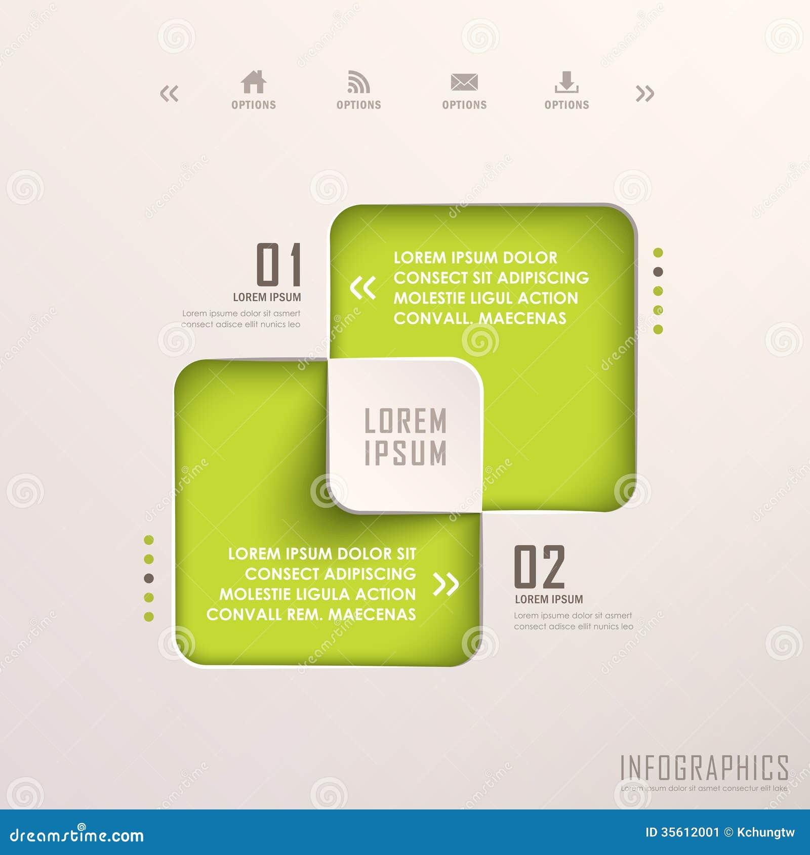 Αφηρημένο τρισδιάστατο τετραγωνικό infographics