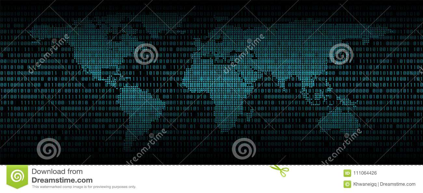 Αφηρημένο υπόβαθρο δυαδικού κώδικα, ψηφιακός κώδικας επικοινωνίας
