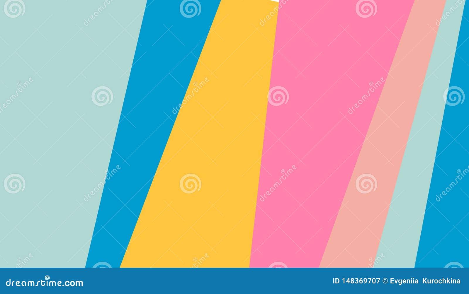Αφηρημένο υπόβαθρο λωρίδων σχεδίων φωτεινό χρωματισμένο για το σχέδιο κάλυψης Διανυσματικό πρότυπο σχεδίου για το ιπτάμενο, φυλλά