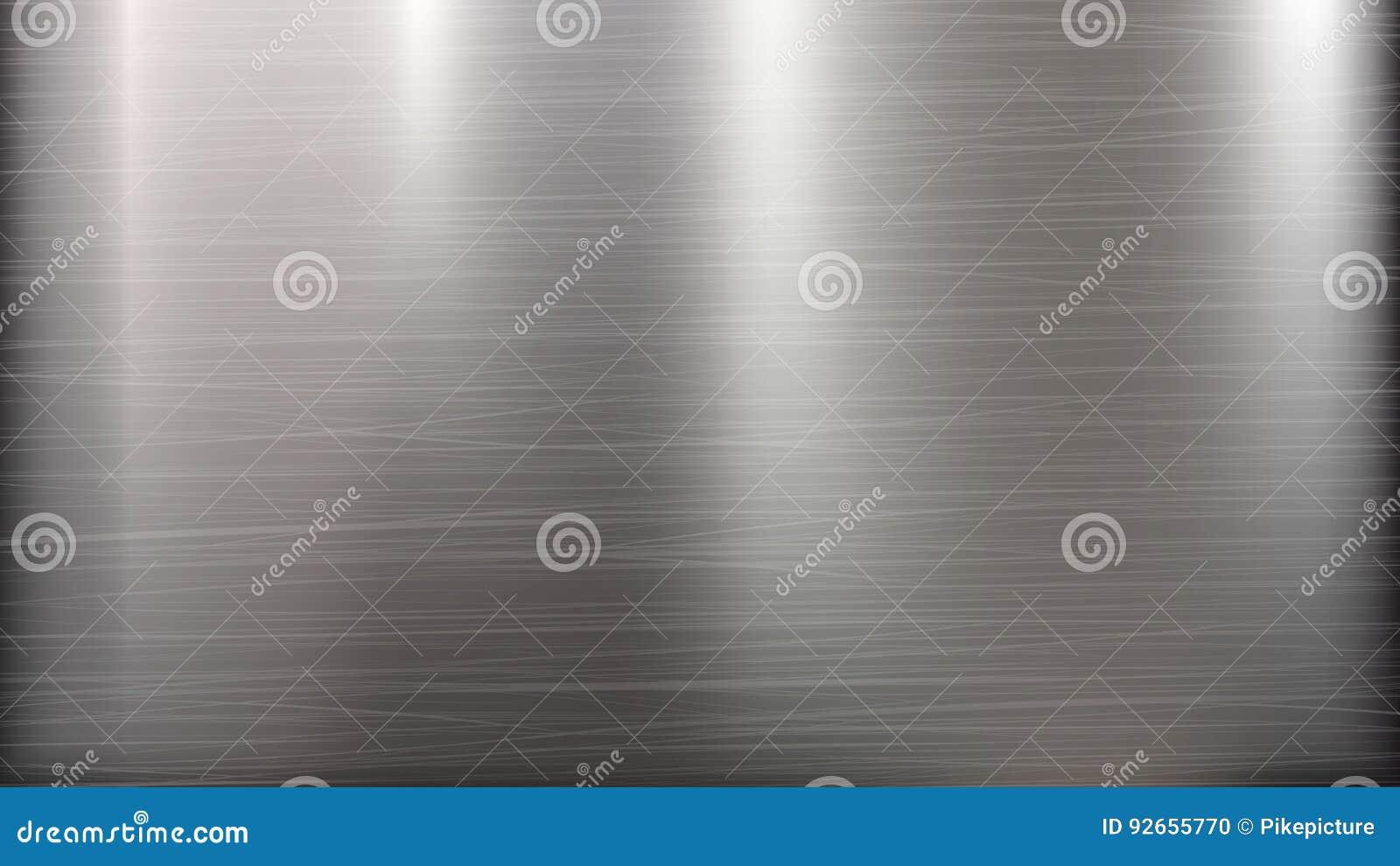 Αφηρημένο υπόβαθρο τεχνολογίας μετάλλων Γυαλισμένη, βουρτσισμένη σύσταση Χρώμιο, ασήμι, χάλυβας, αργίλιο επίσης corel σύρετε το δ