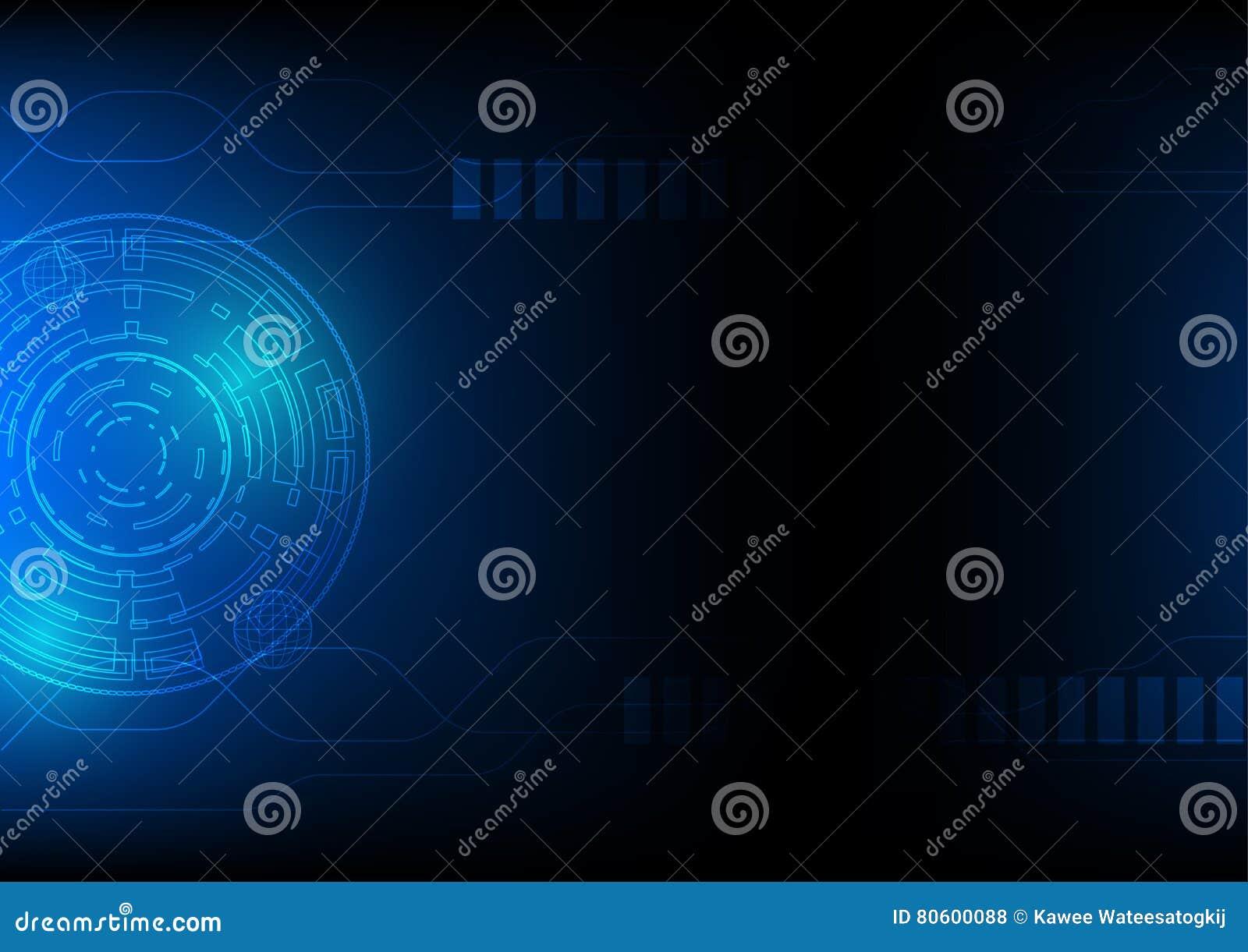 Αφηρημένο υπόβαθρο τεχνολογίας στο μπλε, έννοια θέματος κυβερνοχώρου της sci-Fi υψηλής τεχνολογίας, eps 10 που διευκρινίζεται