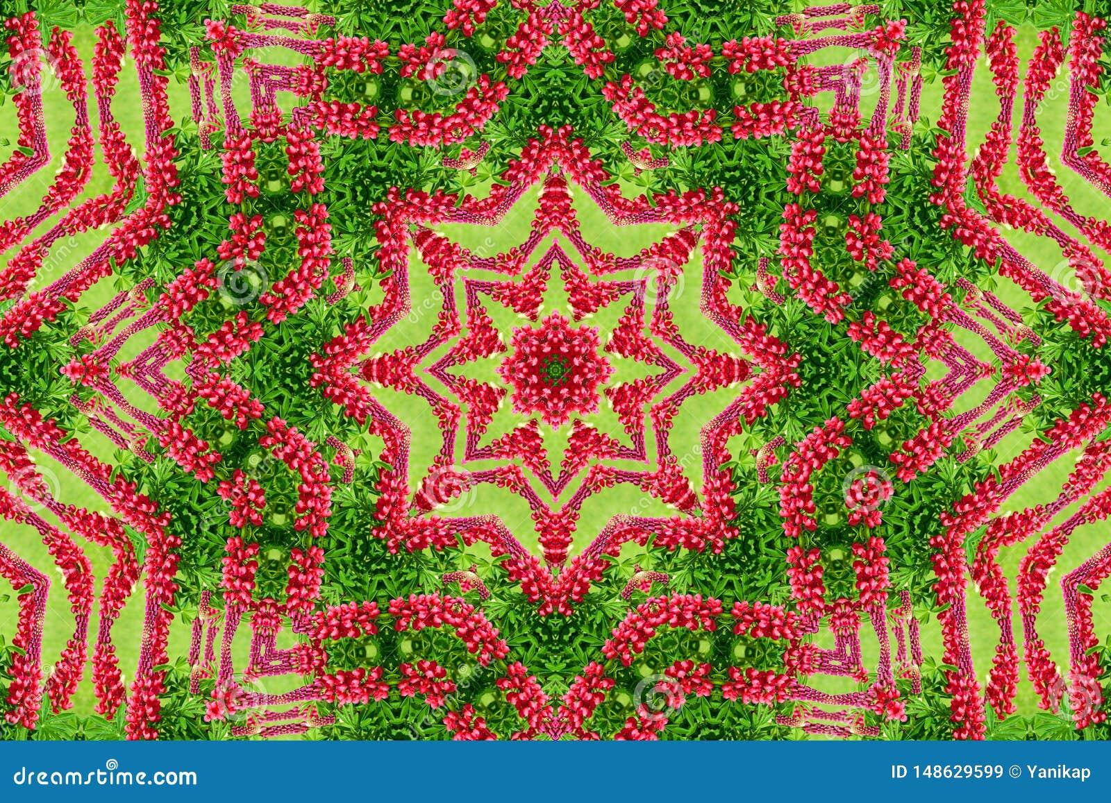 Αφηρημένο υπόβαθρο του σχεδίου λουλουδιών ενός καλειδοσκόπιου
