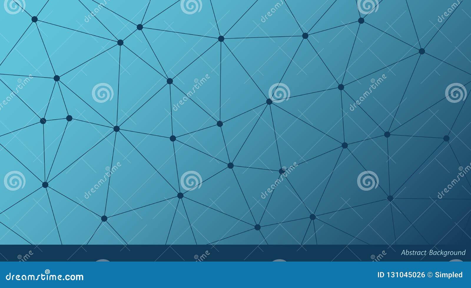 Αφηρημένο υπόβαθρο τριγώνων κλίσης διανυσματικό Μπλε polygonal σχέδιο δικτύων