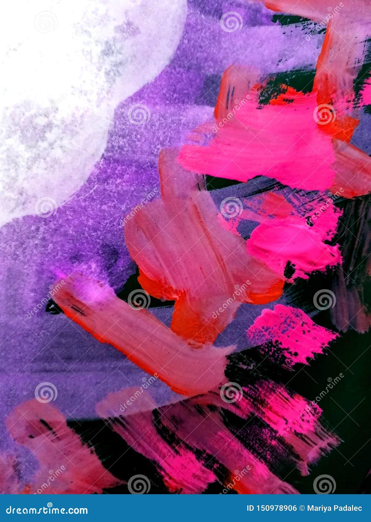 Αφηρημένο υπόβαθρο, χρωματισμένες χέρι συστάσεις, γκουας, watercolor, παφλασμοί, πτώσεις του χρώματος, κτυπήματα χρωμάτων Σχέδιο