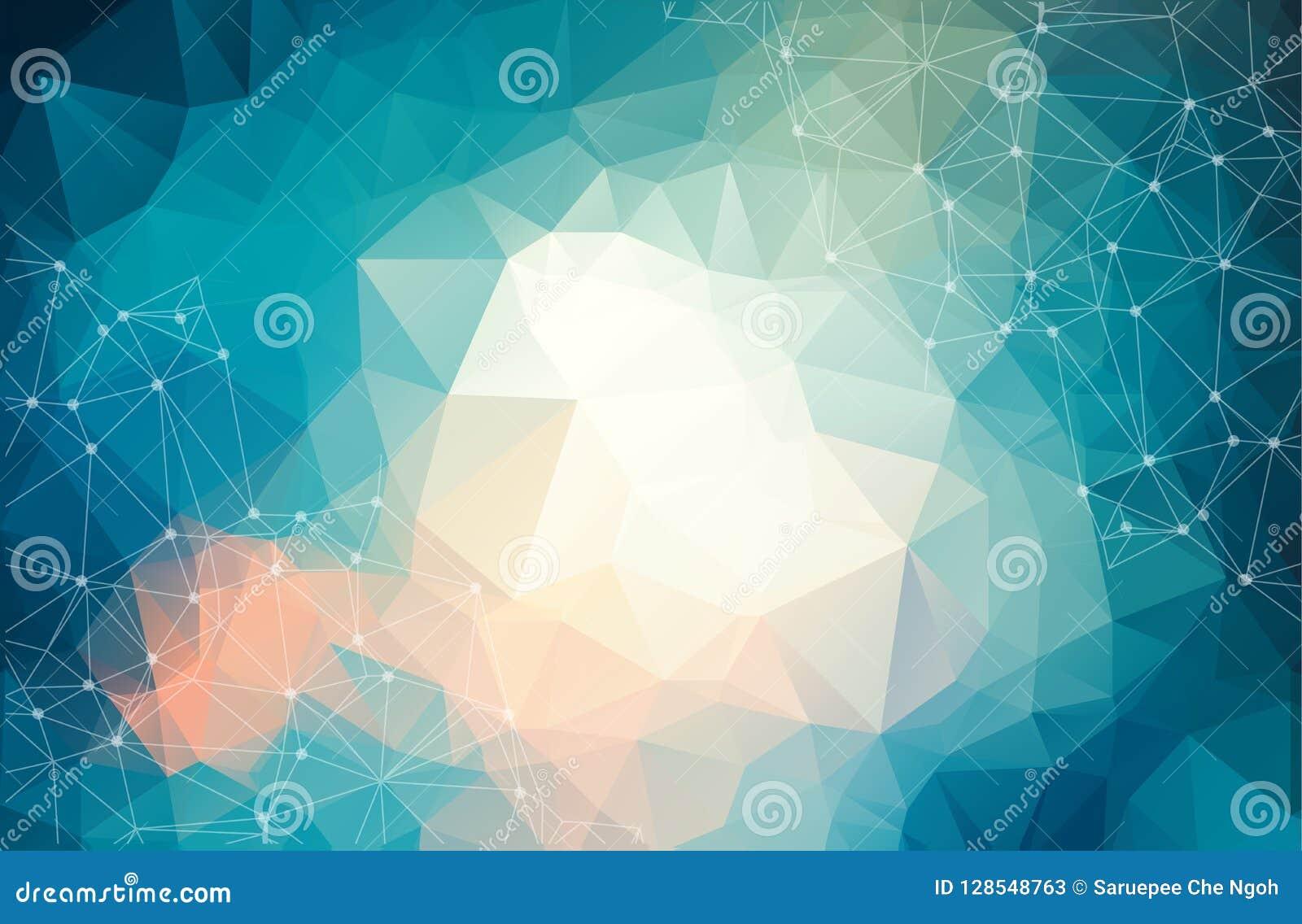 Αφηρημένο φουτουριστικό υπόβαθρο με τα σημεία και τις γραμμές, μοριακά μόρια και άτομα, polygonal γραμμική ψηφιακή σύσταση, τεχνο