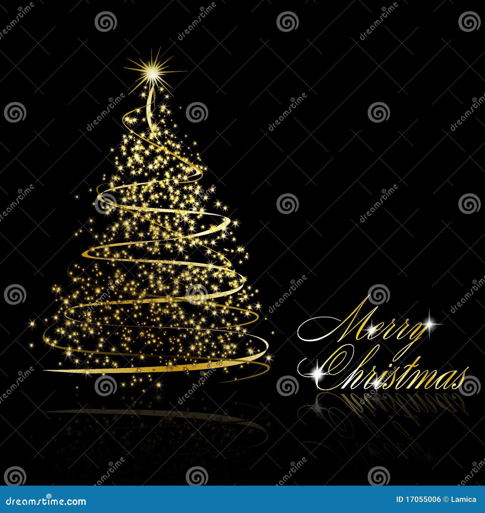 αφηρημένο χρυσό δέντρο Χρισ&