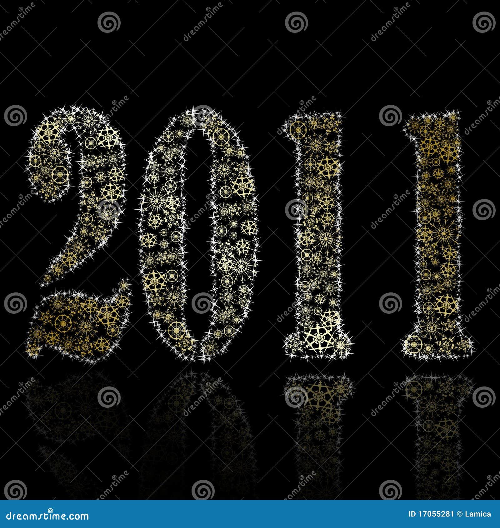 αφηρημένο backround νέο έτος του 2011