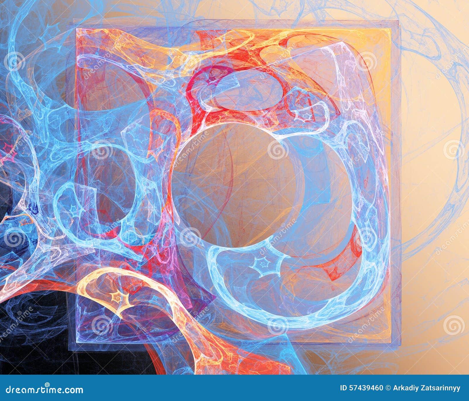 αφηρημένο fractal σχεδίου Τετράγωνο και κύκλος