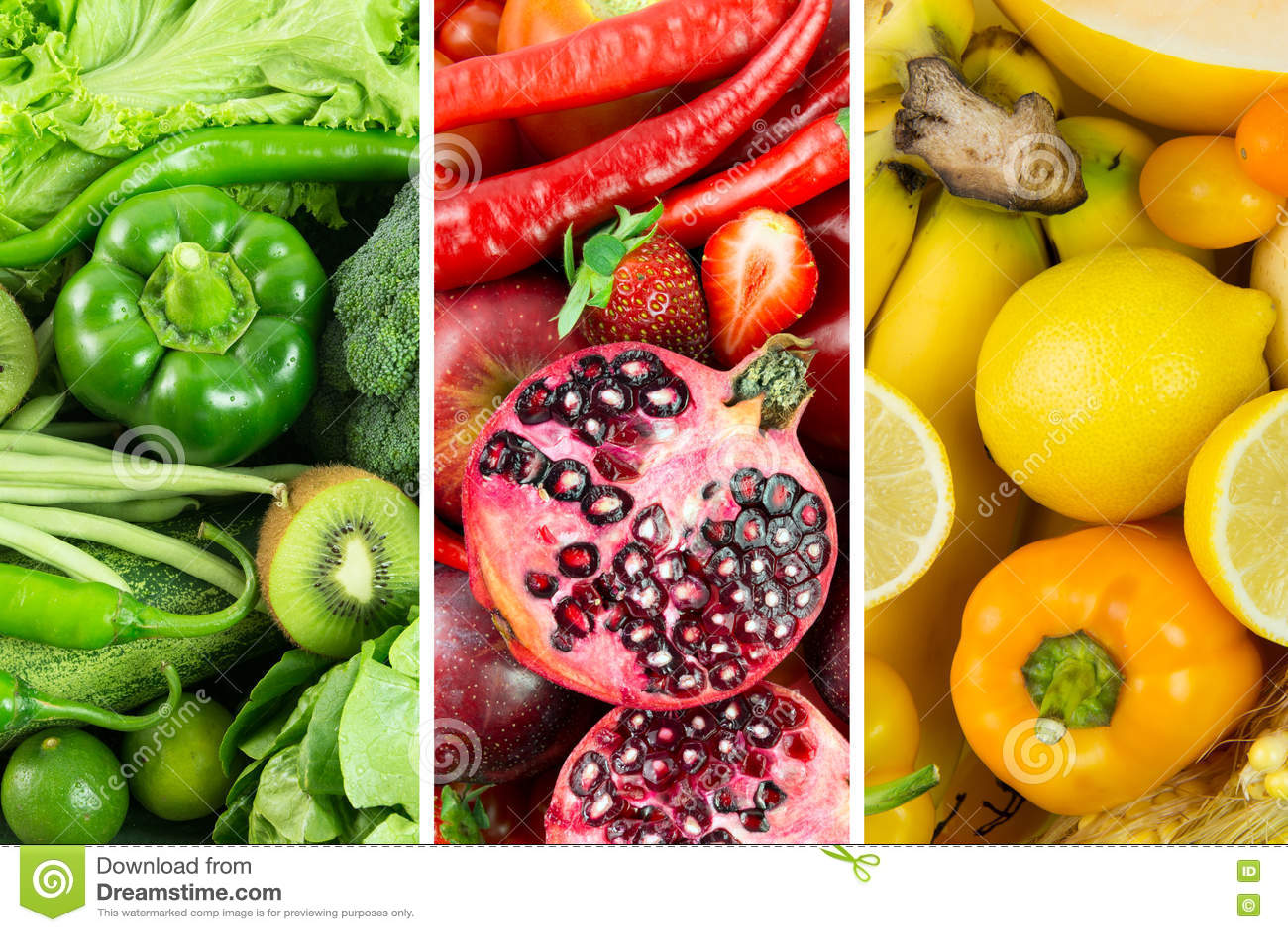λαχανικά καρπών κολάζ