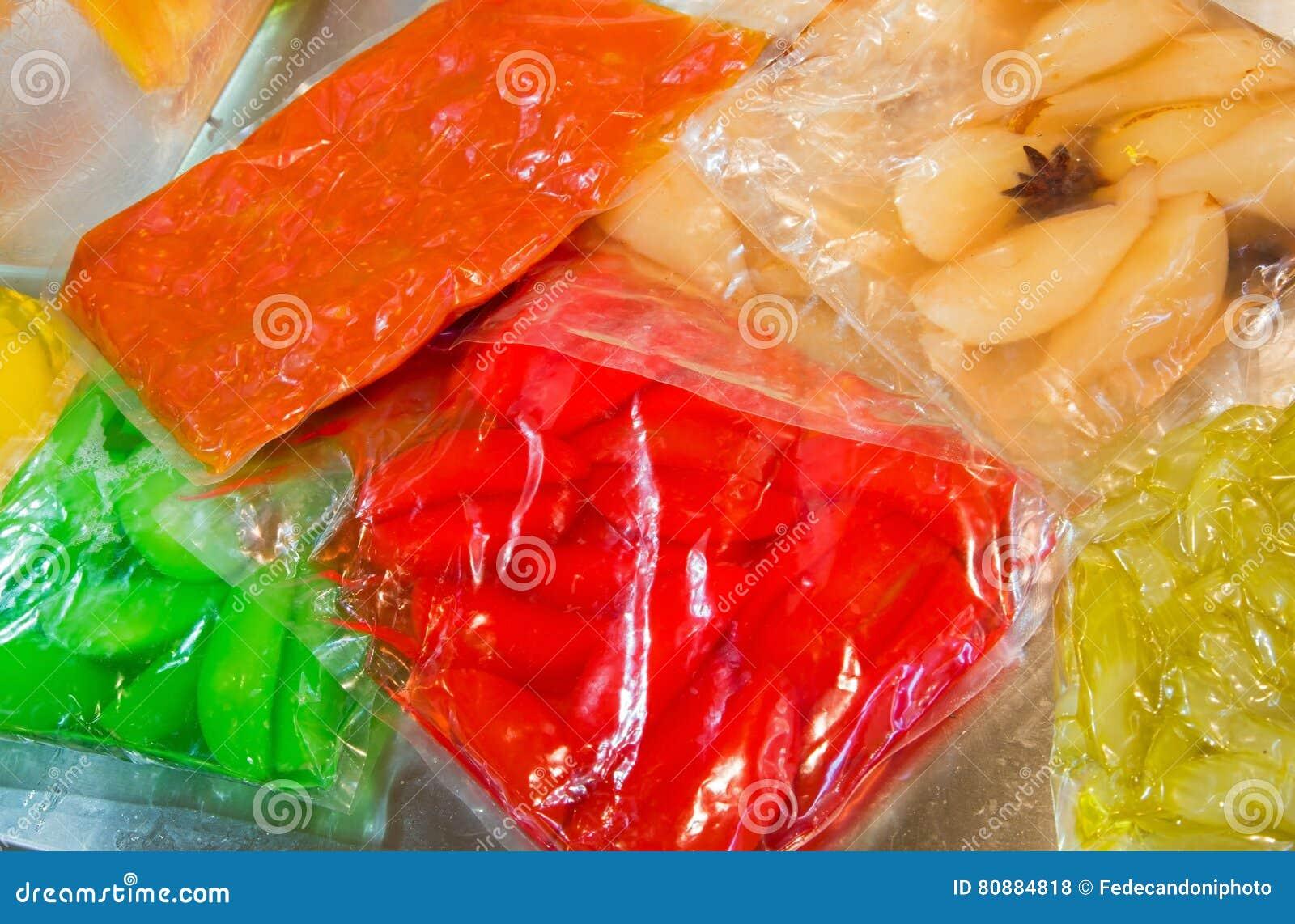 λαχανικά που συντηρούνται στο κενό - συσκευασμένες τσάντες