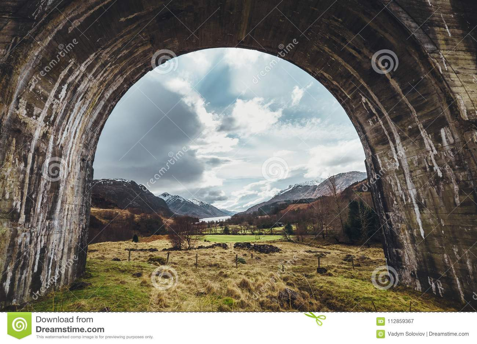 Αψίδα οδογεφυρών Glenfinnan, Χάιλαντς, Σκωτία, Ηνωμένο Βασίλειο