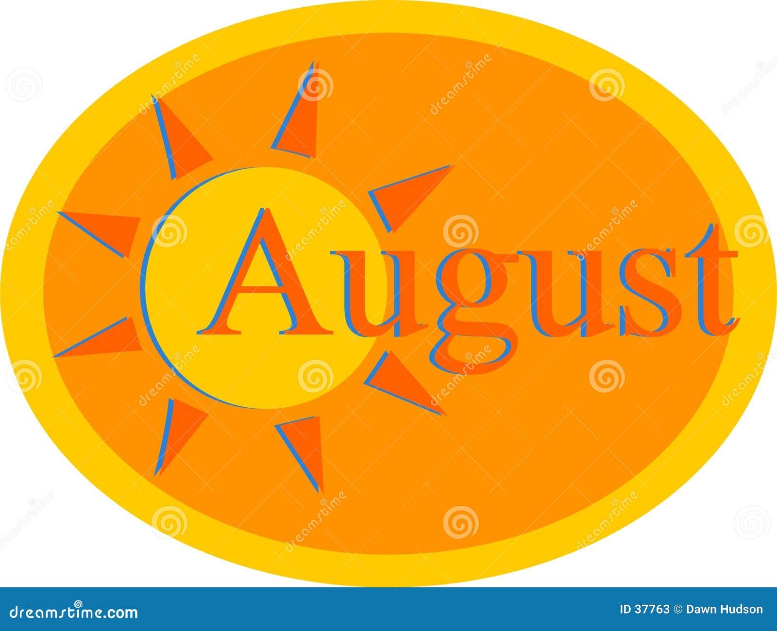 Download Αύγουστος διανυσματική απεικόνιση. εικονογραφία από ηλιοφάνεια - 37763