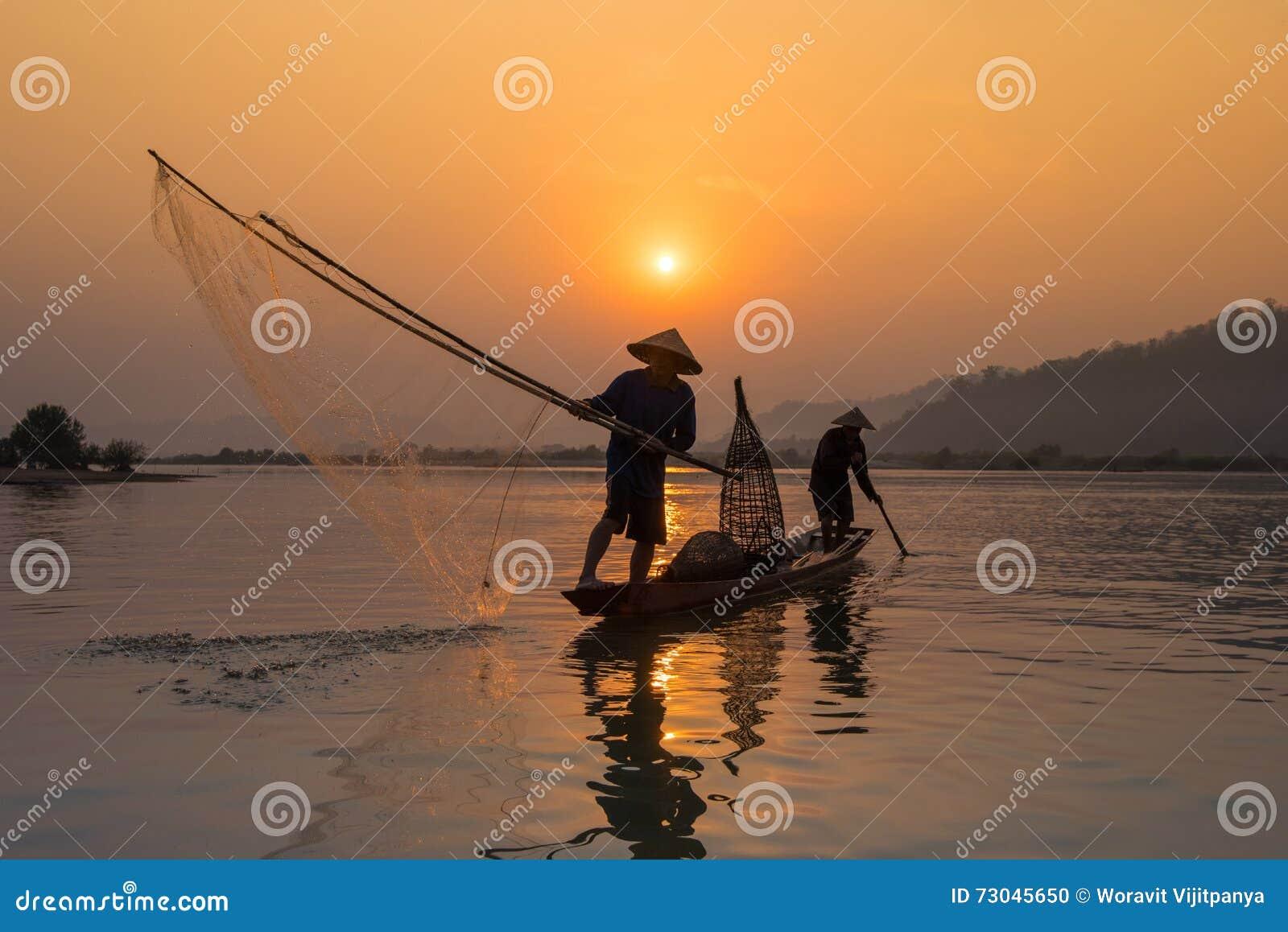 Αλιεία ψαράδων ηλιοβασιλέματος