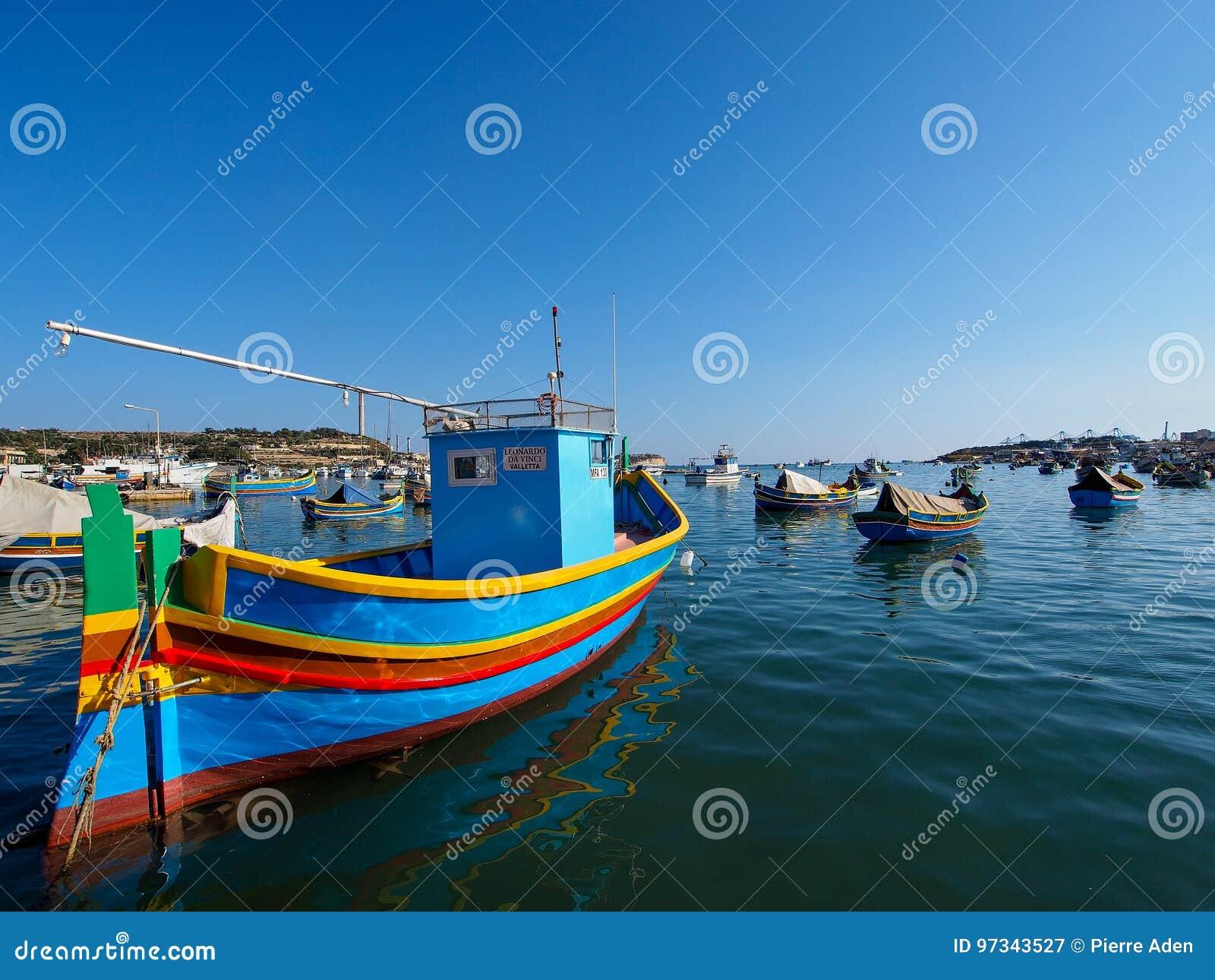 Αλιευτικό σκάφος σε Marsaxlokk