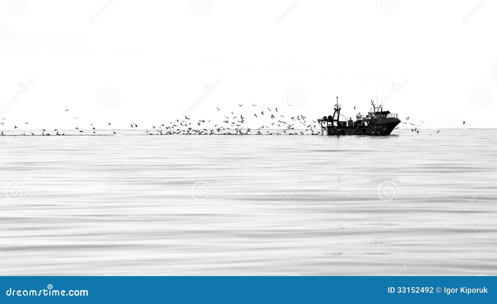 Αλιεύοντας αλιευτικό πλοιάριο
