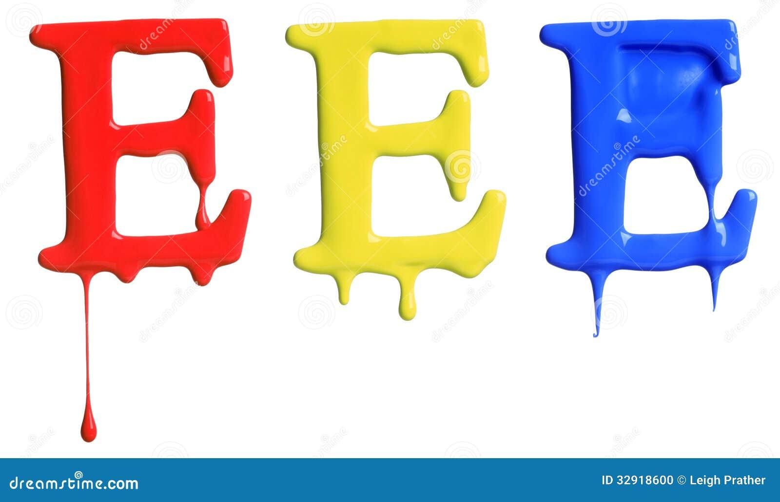 Αλφάβητο σταλάγματος χρωμάτων