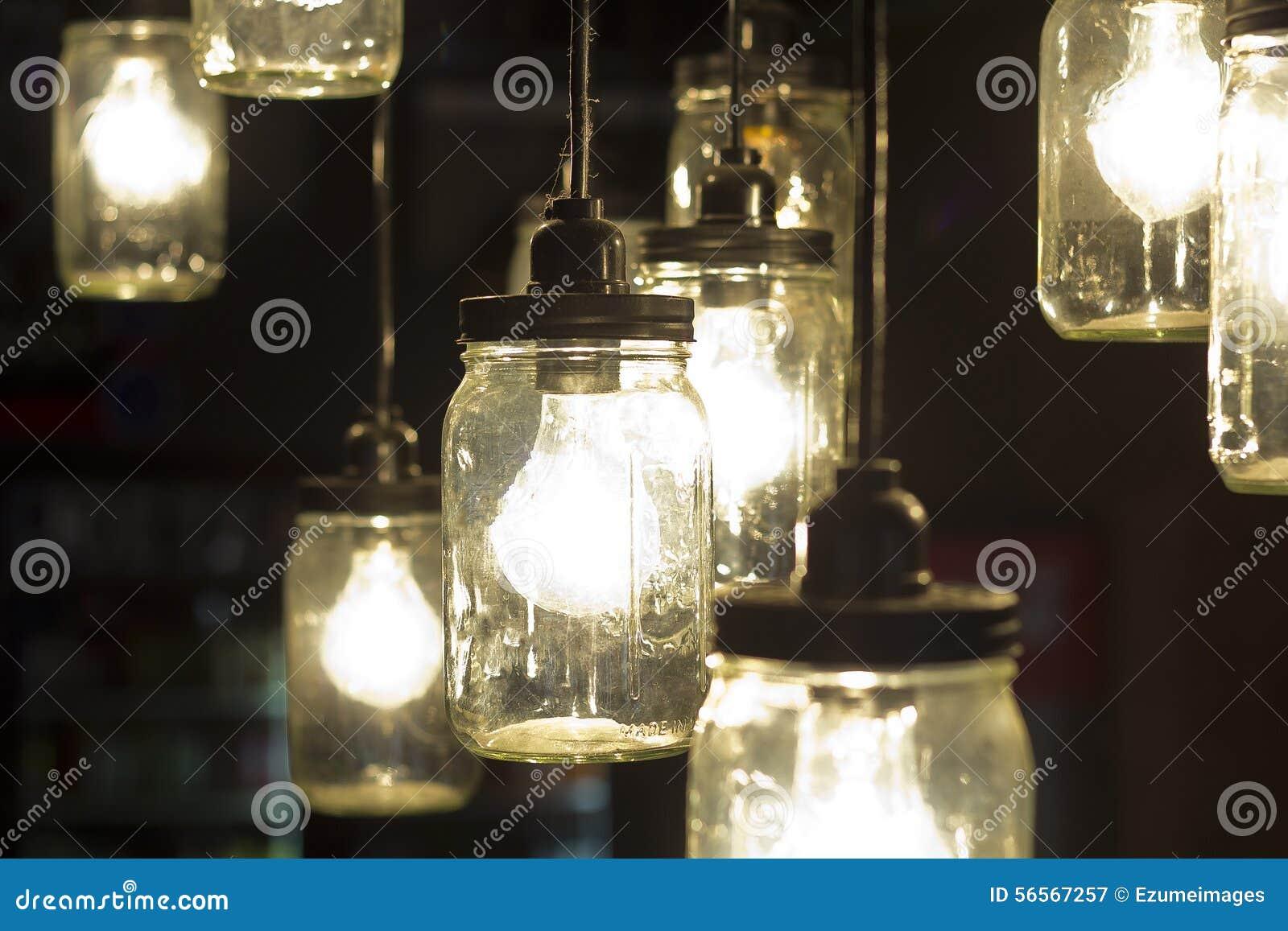 Download Βάζο Lightbulbs του Mason στοκ εικόνα. εικόνα από ιδέες - 56567257