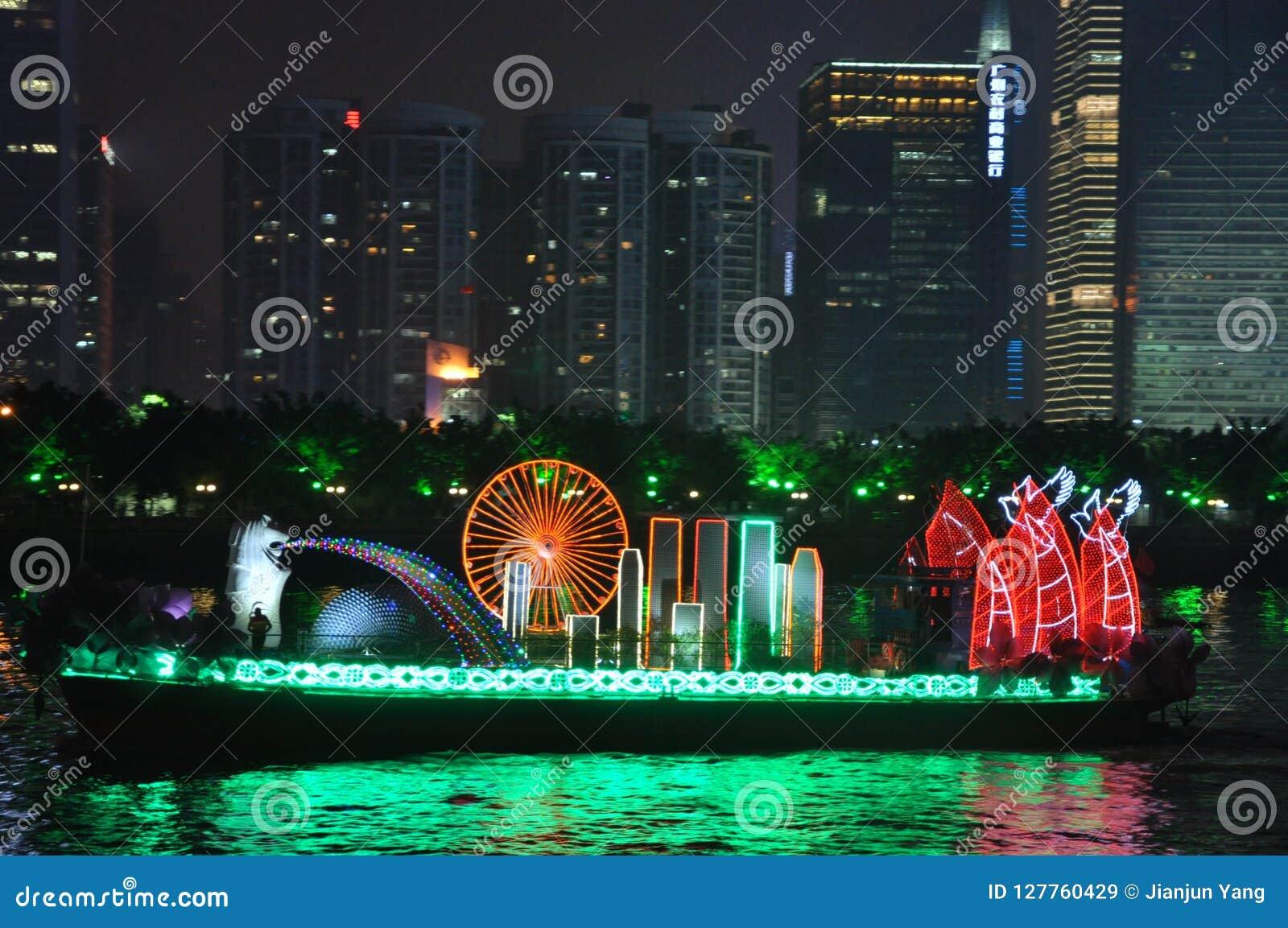 Βάρκα δράκων σε Guangzhou Κίνα