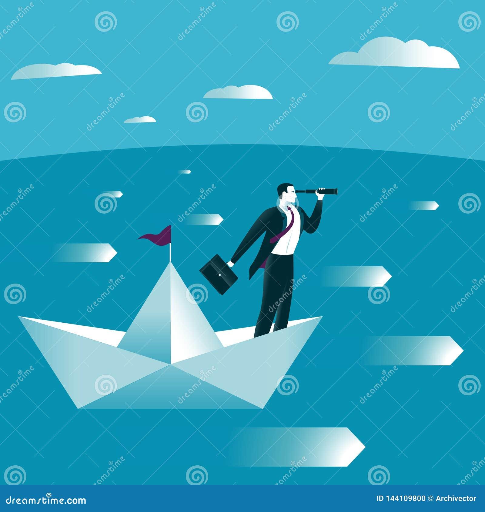 Βάρκα εγγράφου στην ανοικτή θάλασσα