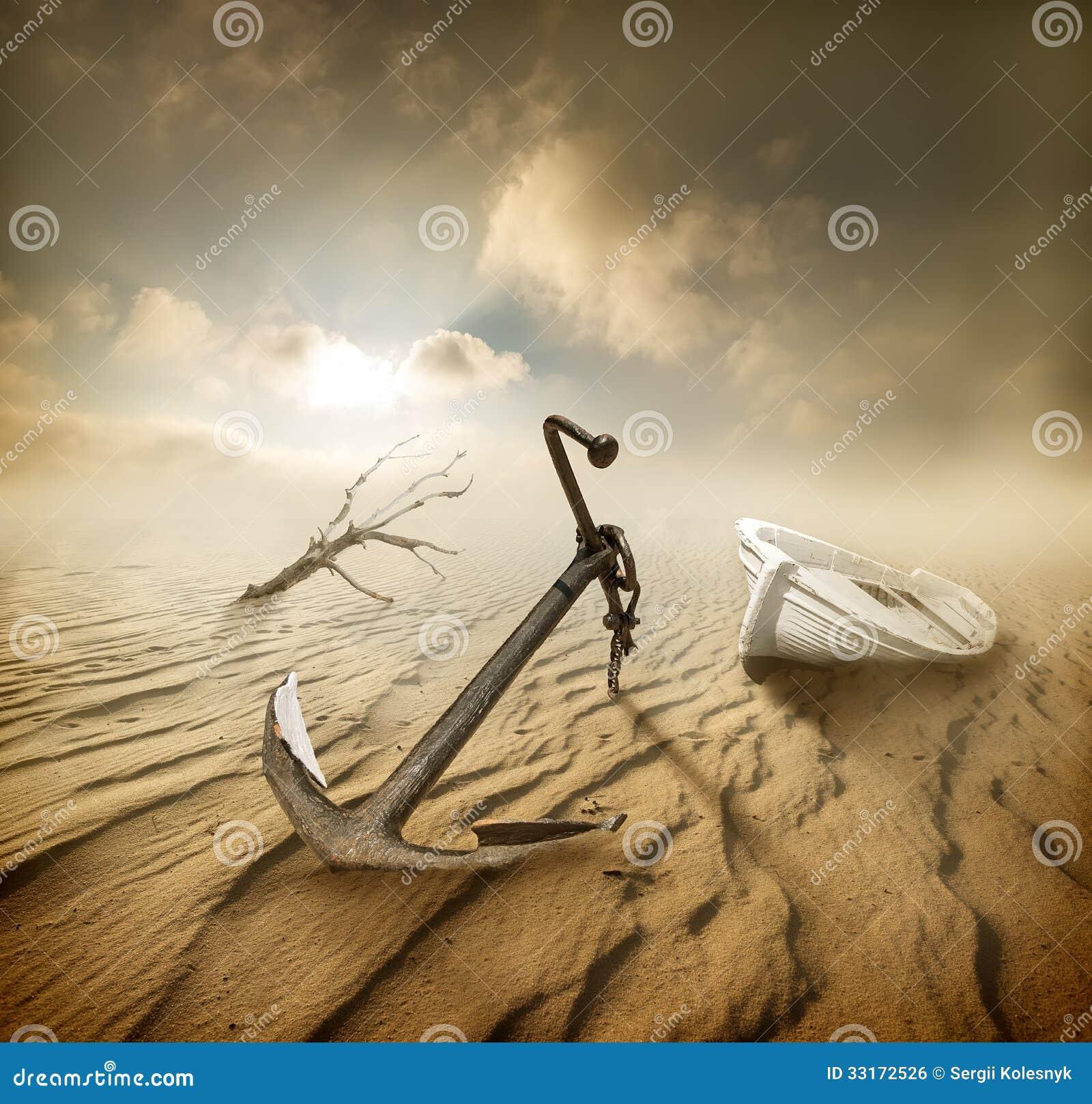 Βάρκα στην έρημο