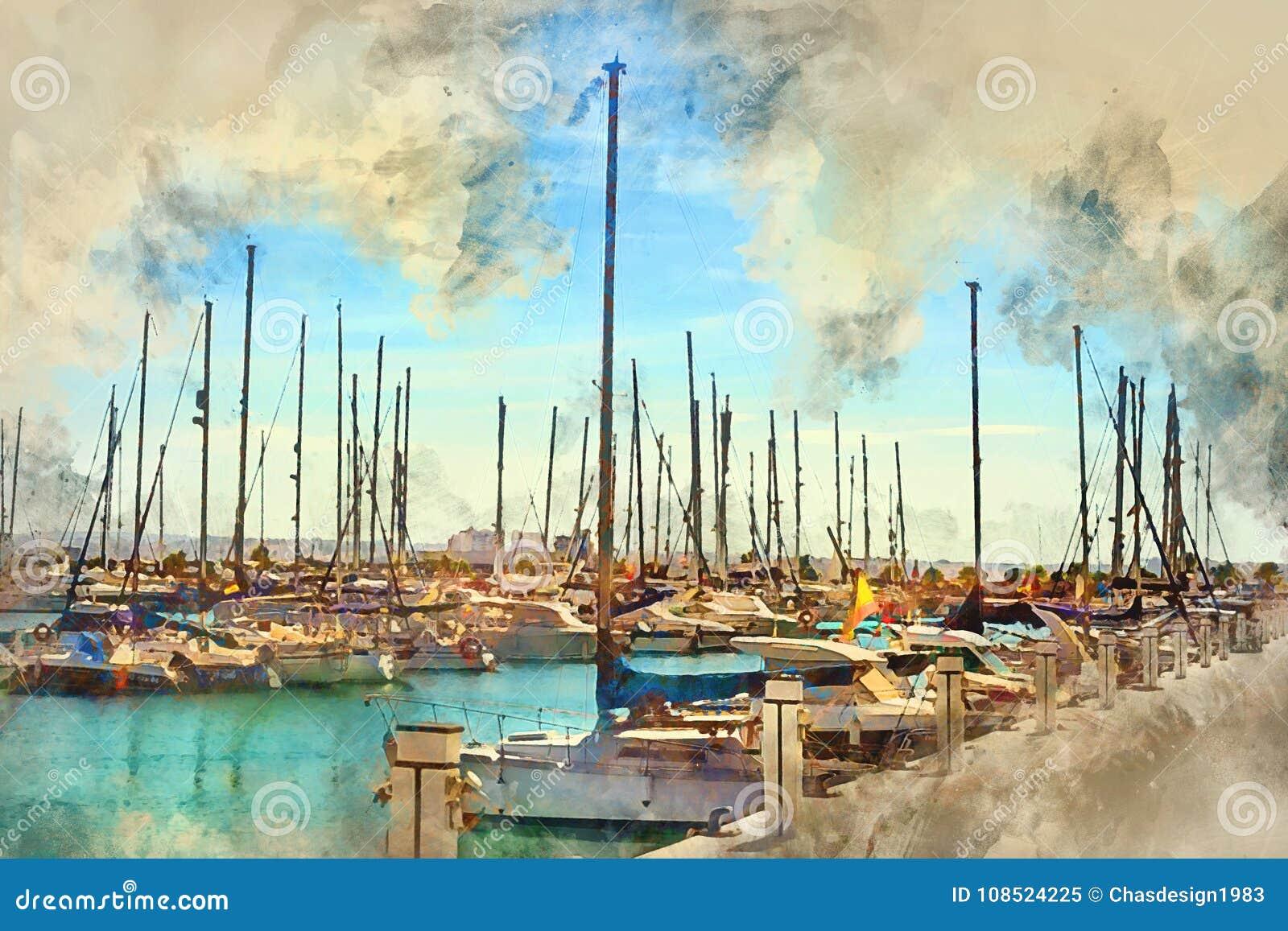 Βάρκες γιοτ Torrevieja, Ισπανία
