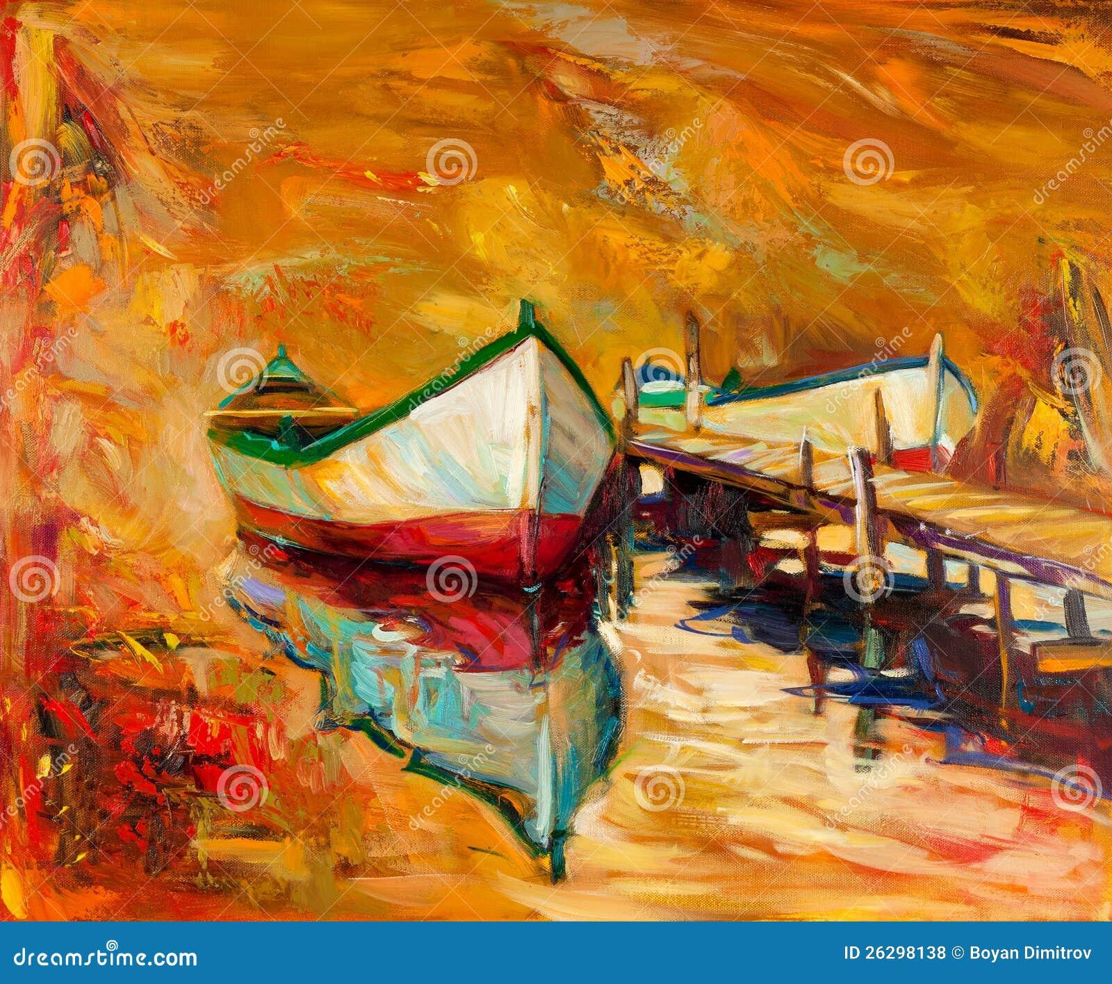 Βάρκες και αποβάθρα