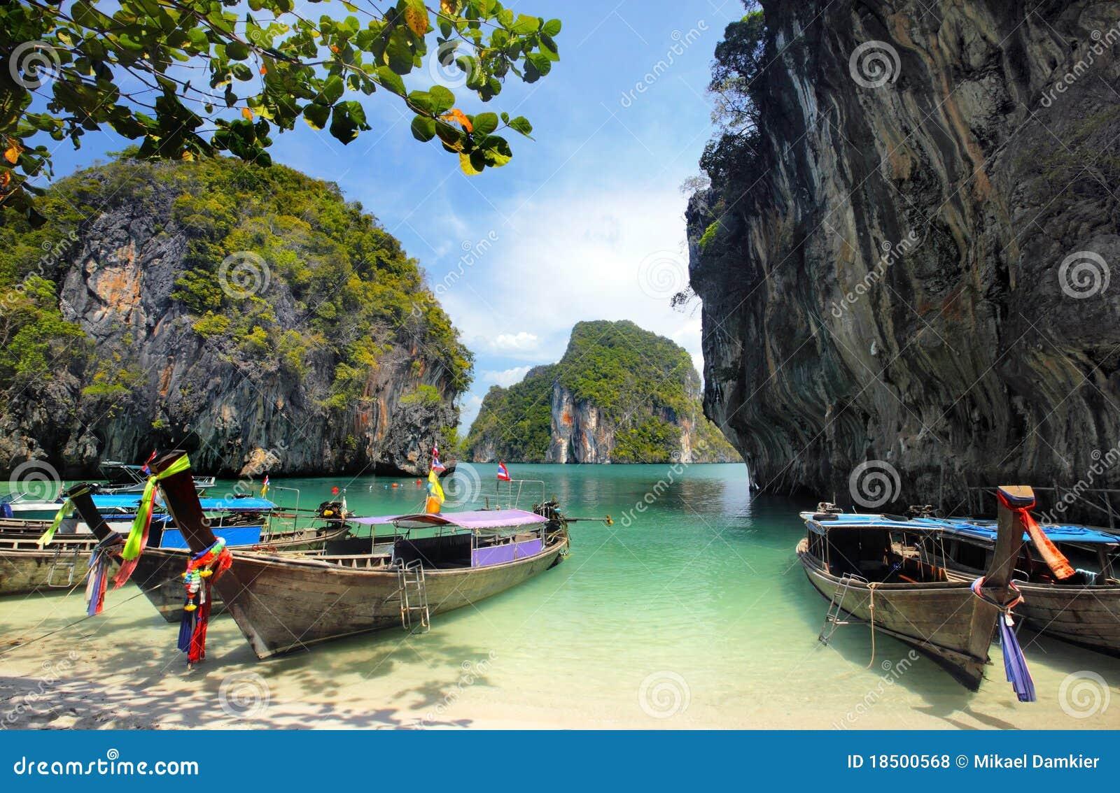 βάρκες με μακριά ουρά Ταϊλά&