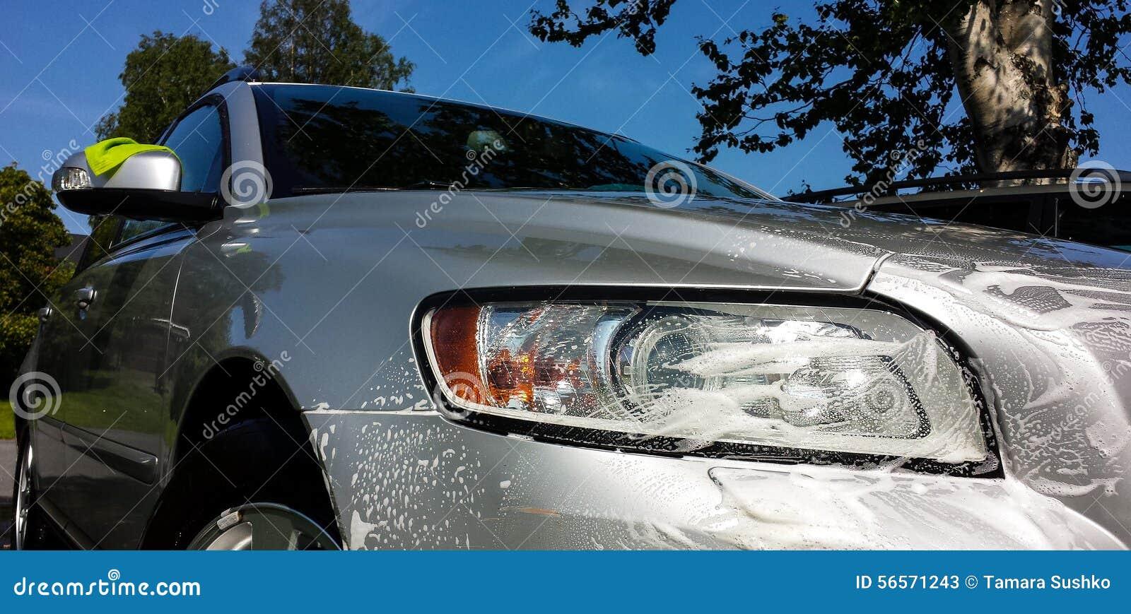 Download Βάψιμο παραθύρων αυτοκινήτων Στοκ Εικόνα - εικόνα από εύθυμος, καθαρίστε: 56571243