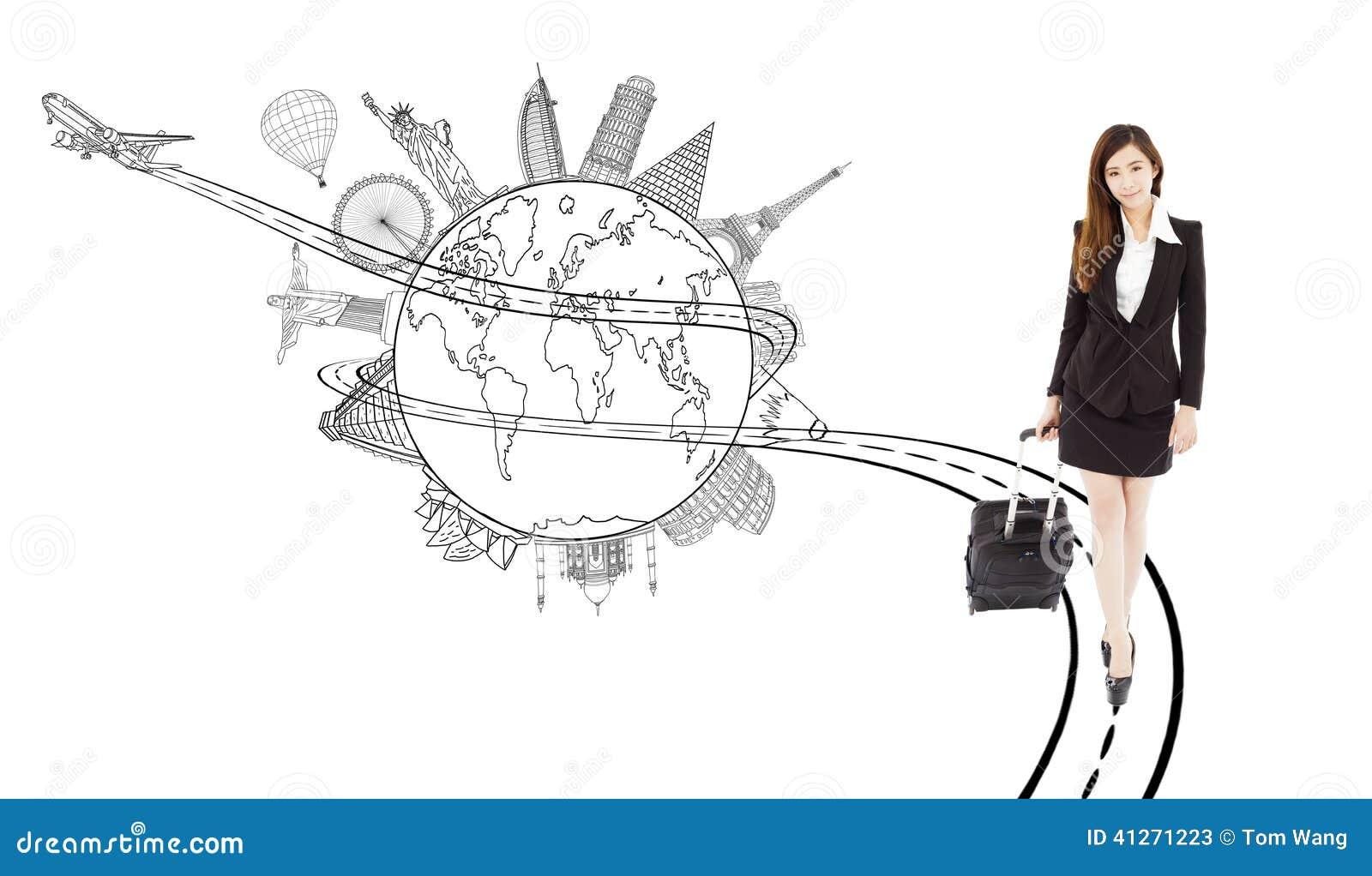 Βέβαιο νέο τράβηγμα γυναικών baggages για το παγκόσμιο ταξίδι
