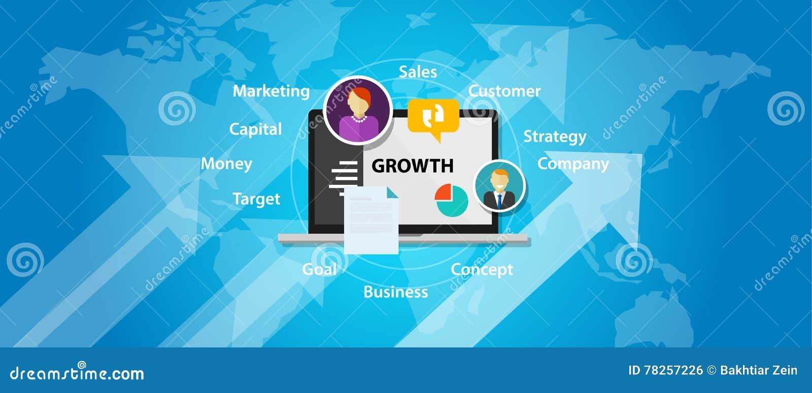 Βέλος αύξησης έννοιας πωλήσεων μάρκετινγκ επιχειρησιακής επιχείρησης αύξησης