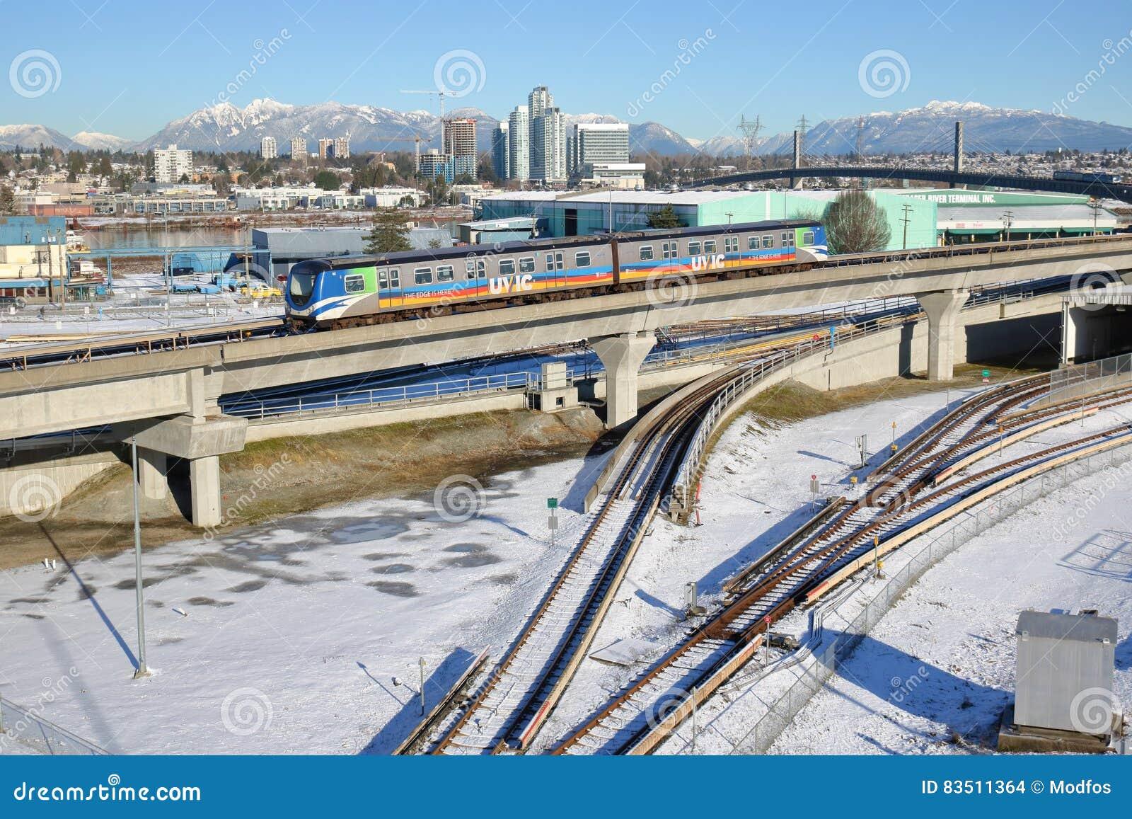 Βανκούβερ Skytrain το χειμώνα