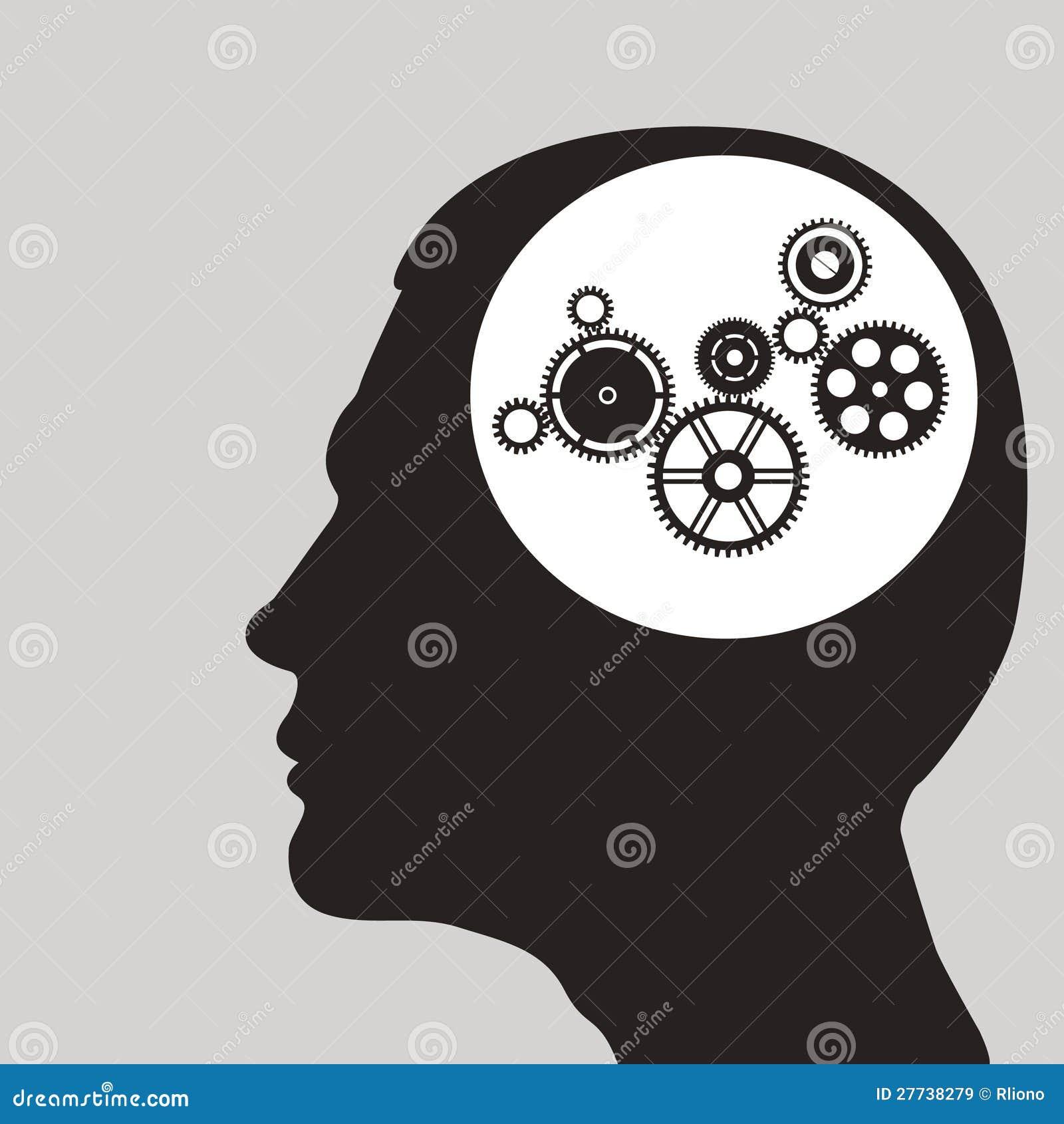 Βαραίνω ή εργαλεία στο ανθρώπινο κεφάλι.