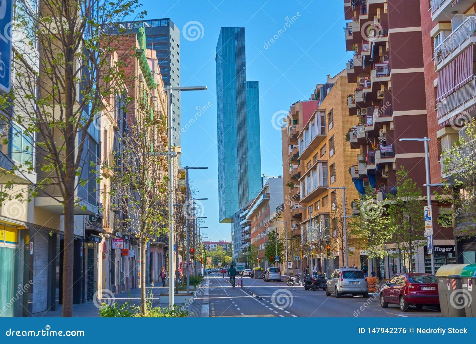 Βαρκελώνη, Ισπανία - 7 Απριλίου 2019: Κτήρια της Βαρκελώνης, Ισπανία