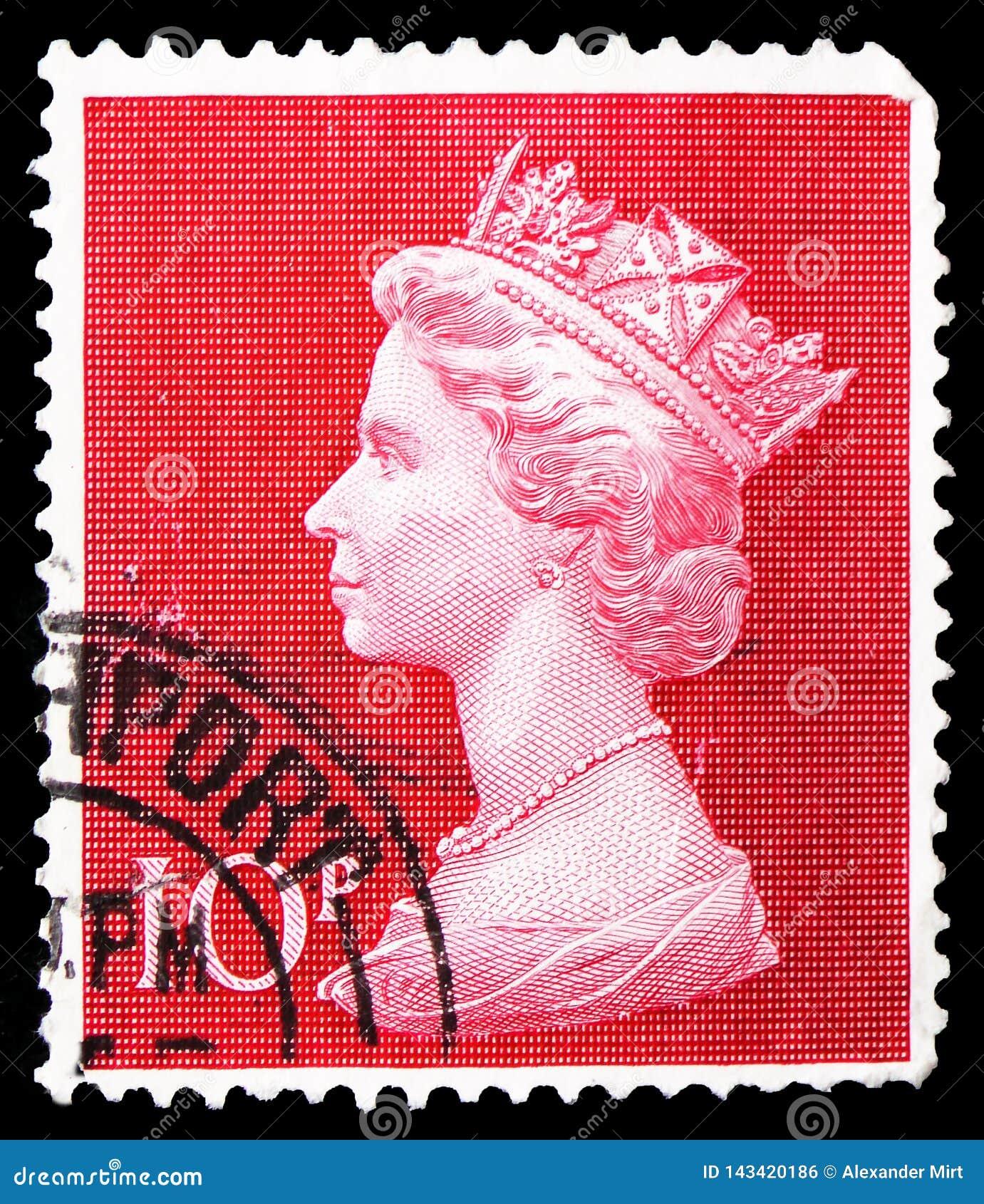 Βασίλισσα Elizabeth II - μεγάλο Machin, serie, circa 1970