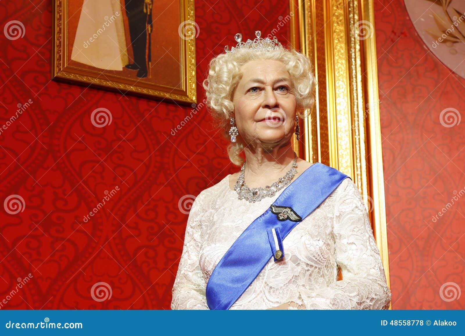 Βασίλισσα Elizabeth II, άγαλμα κεριών, αριθμός κεριών, κηροπλαστική