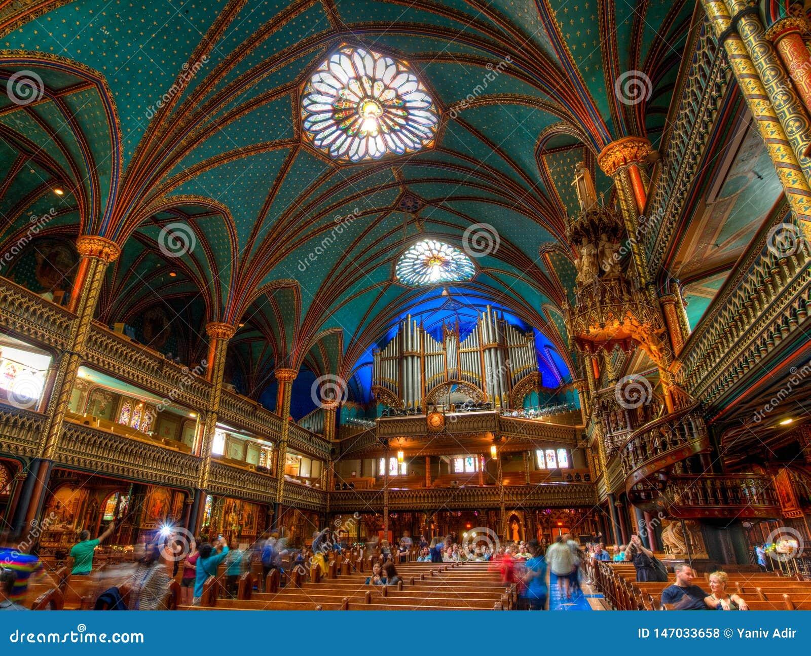 Βασιλική της Notre Dame, εσωτερικό, Μόντρεαλ, QC, Καναδάς