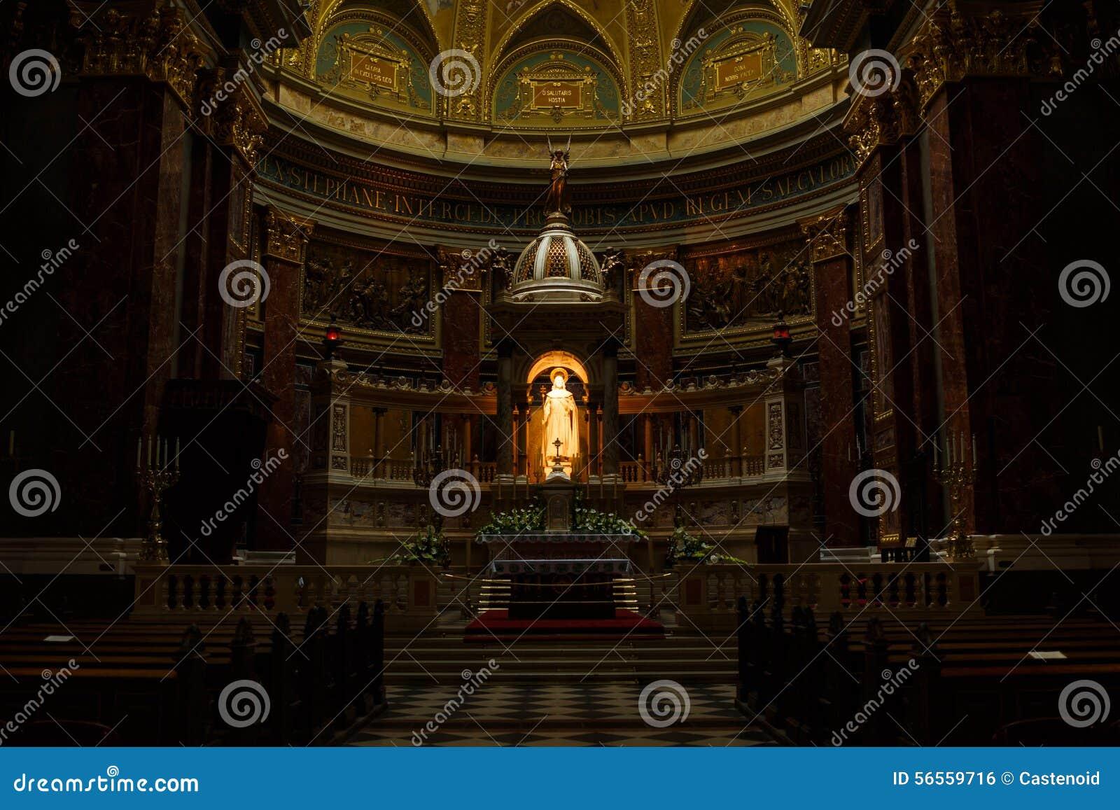 Download Βασιλική Αγίου Stephen εσωτερική Στοκ Εικόνες - εικόνα από κέντρο, νεοκλασσικός: 56559716