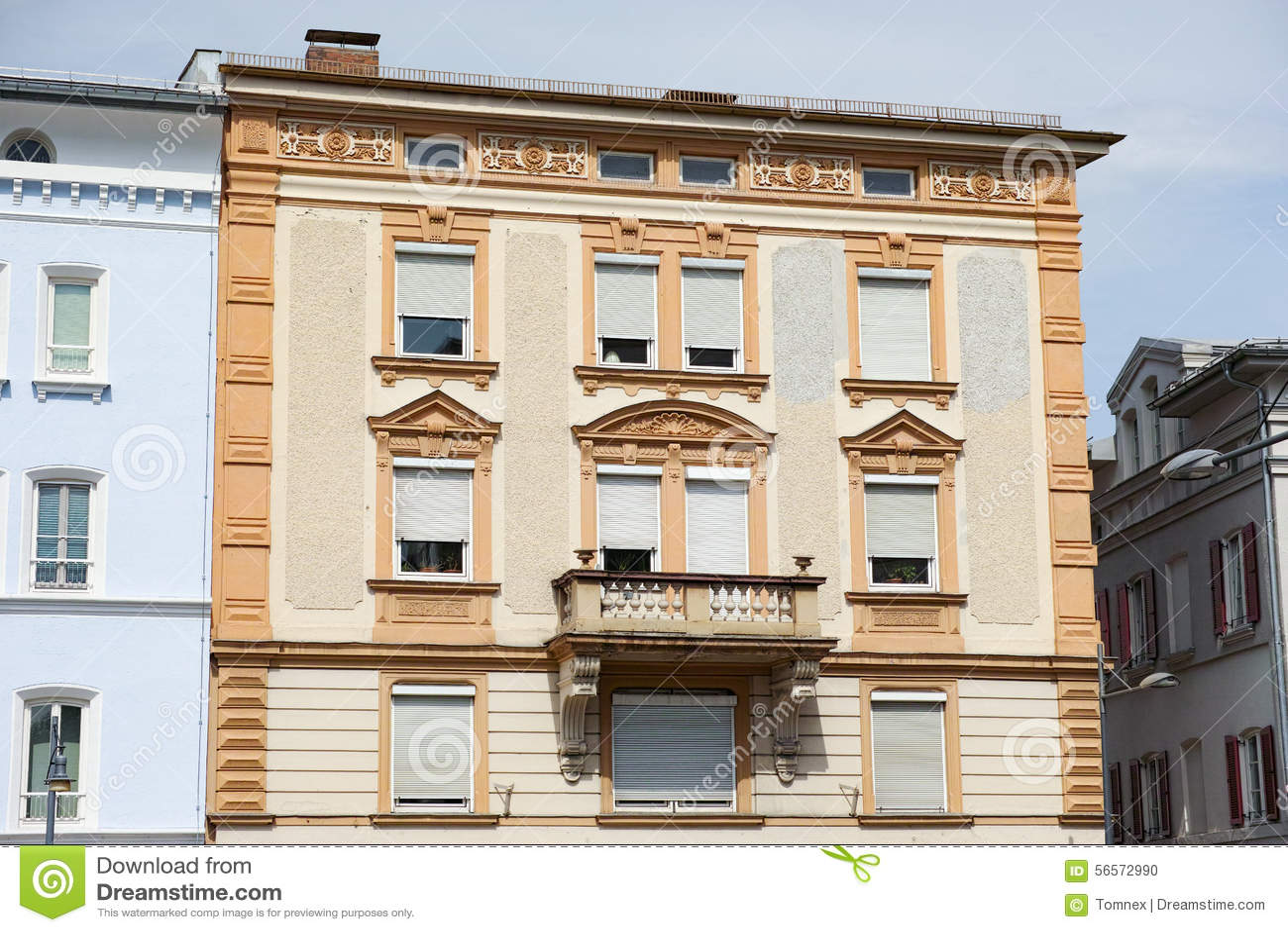 Download Βαυαρικό κτήριο στοκ εικόνες. εικόνα από πρόσοψη, κτήμα - 56572990