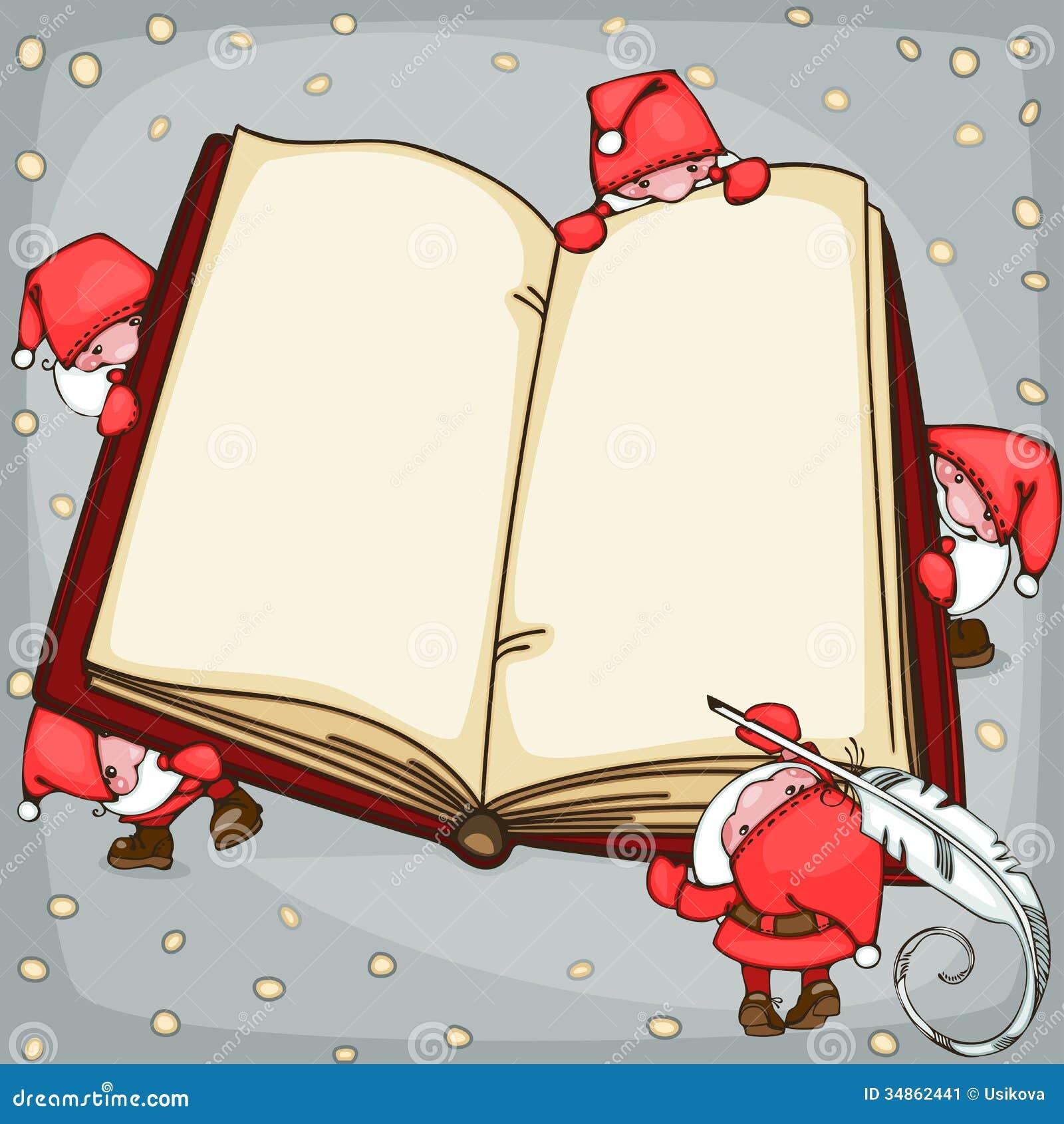 Βιβλίο Χριστουγέννων διανυσματική απεικόνιση. εικονογραφία από χριστουγέννων  - 34862441