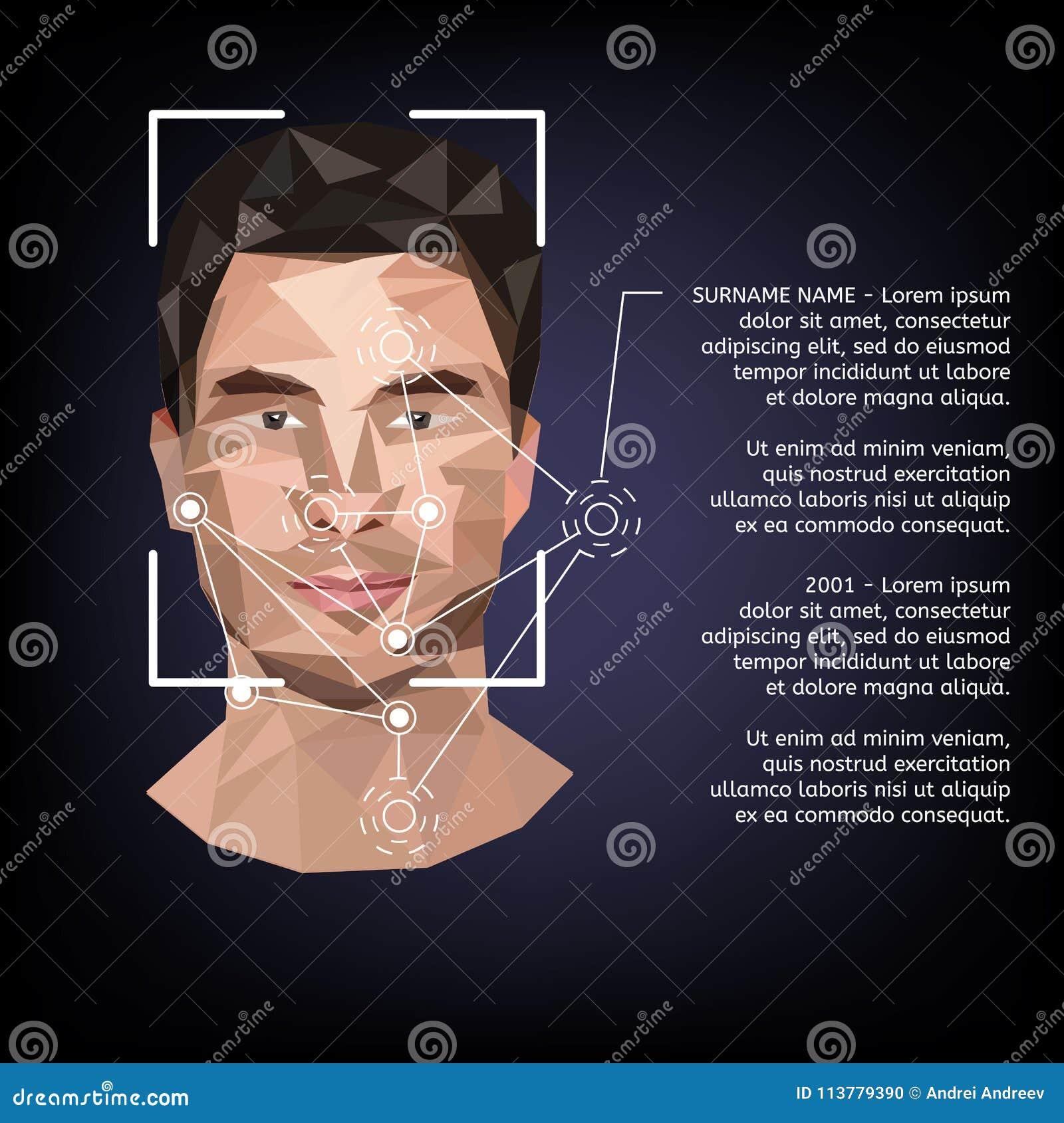 Βιομετρικός προσδιορισμός στο πρόσωπο, στο ύφος χαμηλού πολυ
